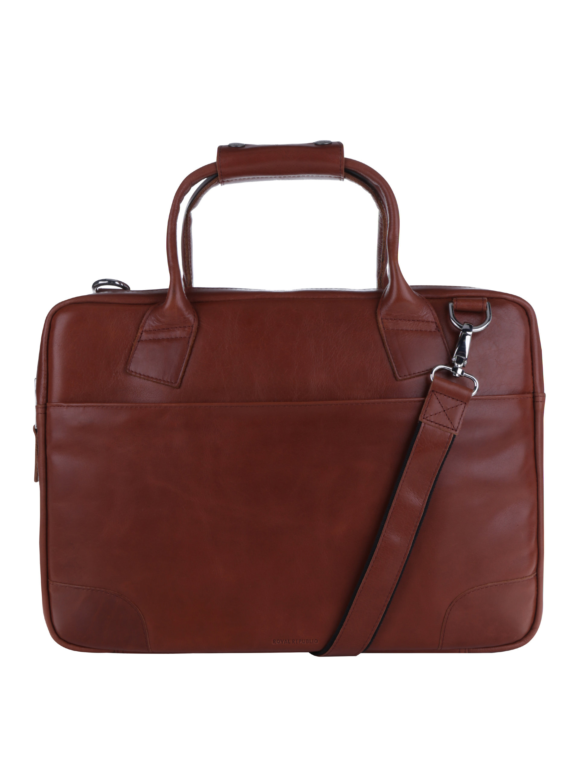 e9dd6790c8 Hnedá pánska kožená taška na notebook Royal RepubliQ ...