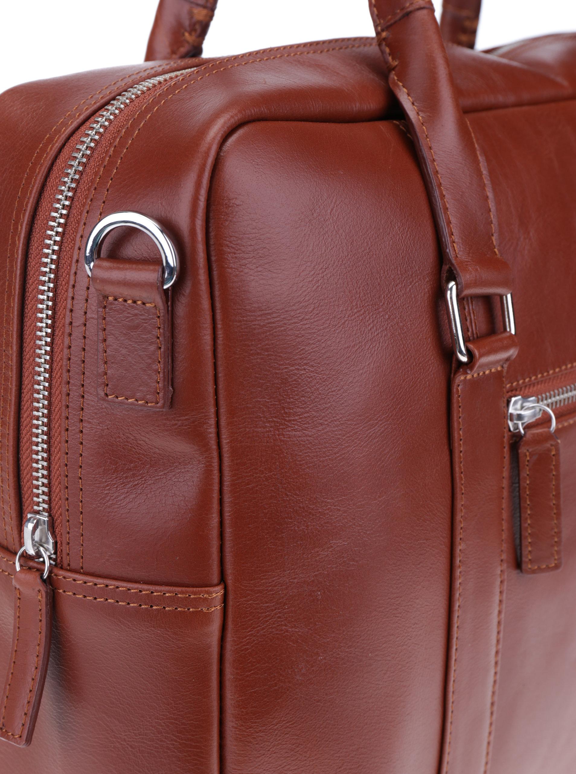 4dced6ffcd Hnedá dámska kožená taška na notebook Royal RepubliQ ...