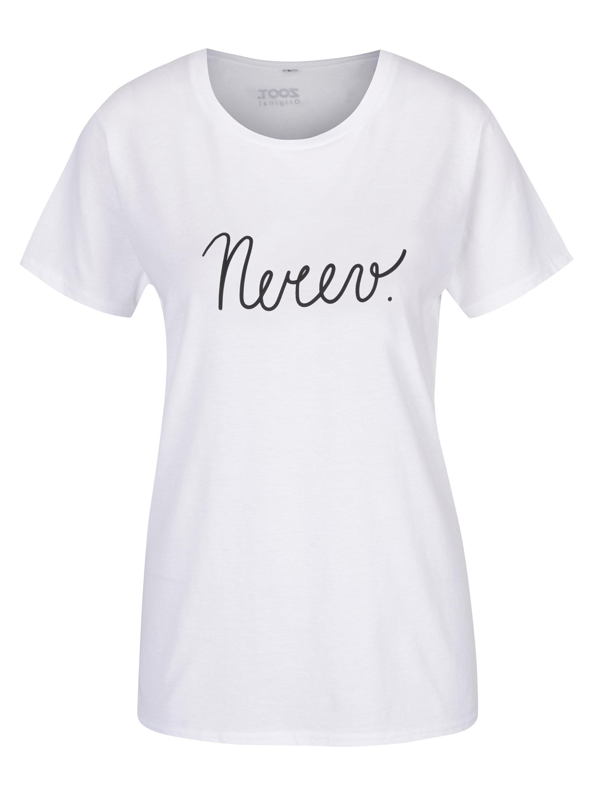 65214acf14b3 Biele dámske tričko ZOOT Originál Nerev.