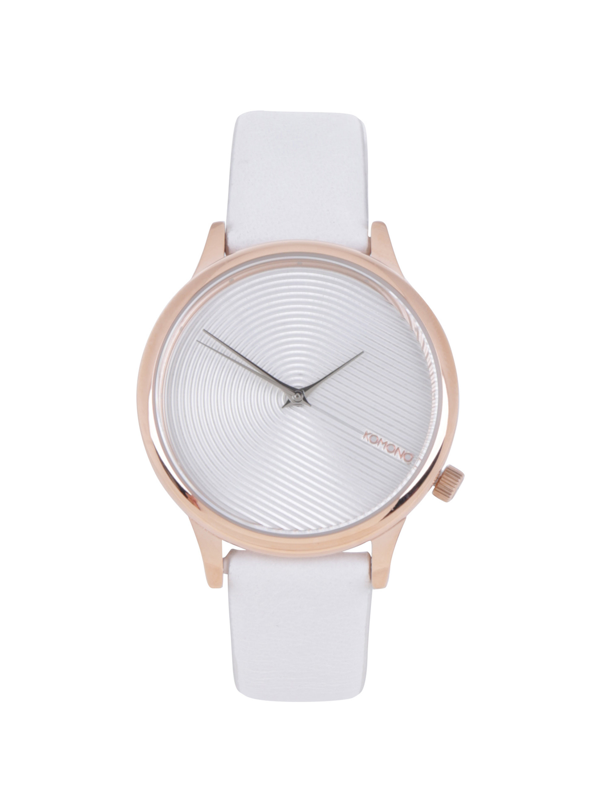 Dámske hodinky s bielym koženým remienkom Komono Estelle Deco ... 0c9b8817bd8