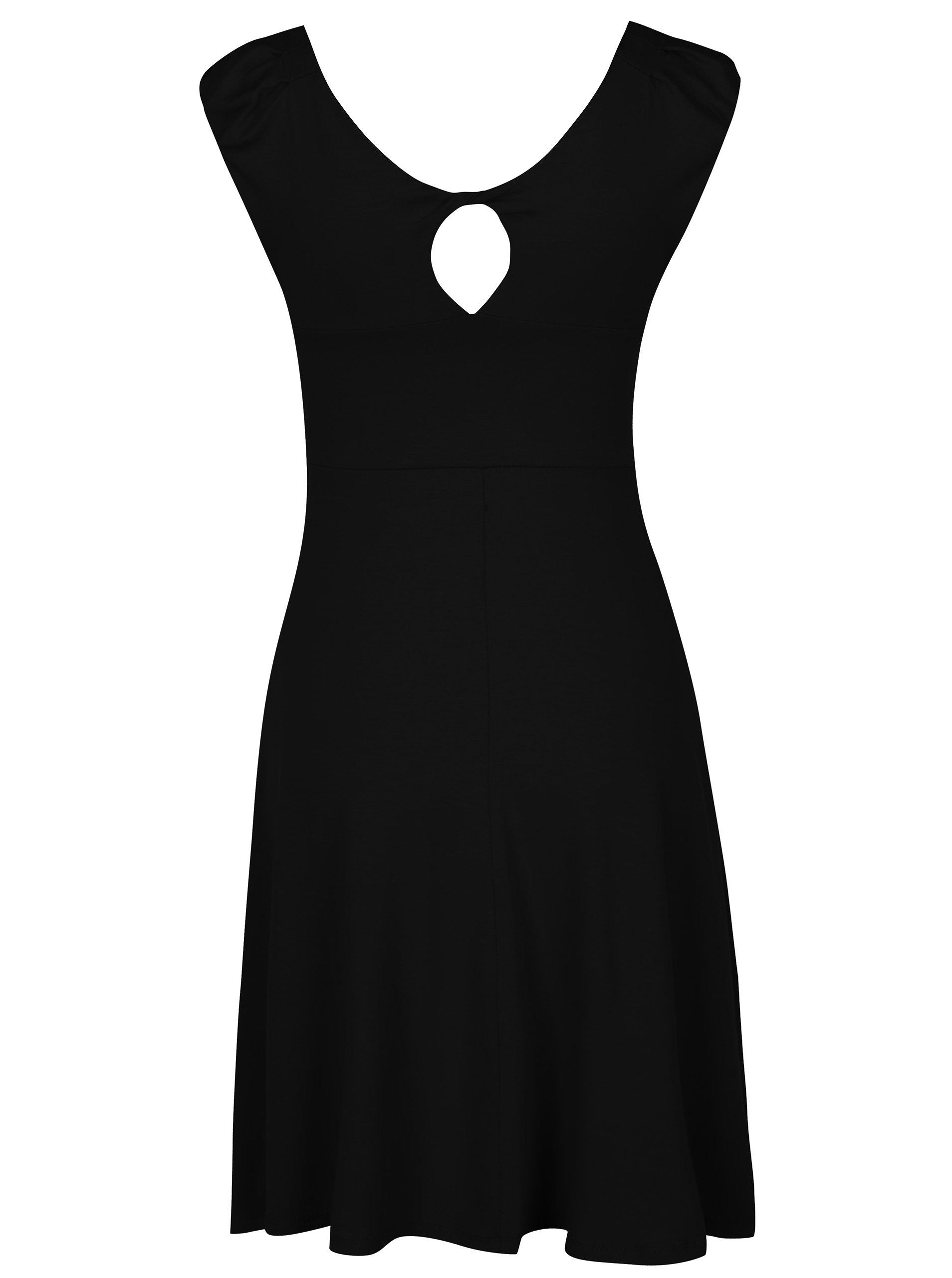 573f6f41985a Čierne šaty s uzlom v dekolte ZOOT ...