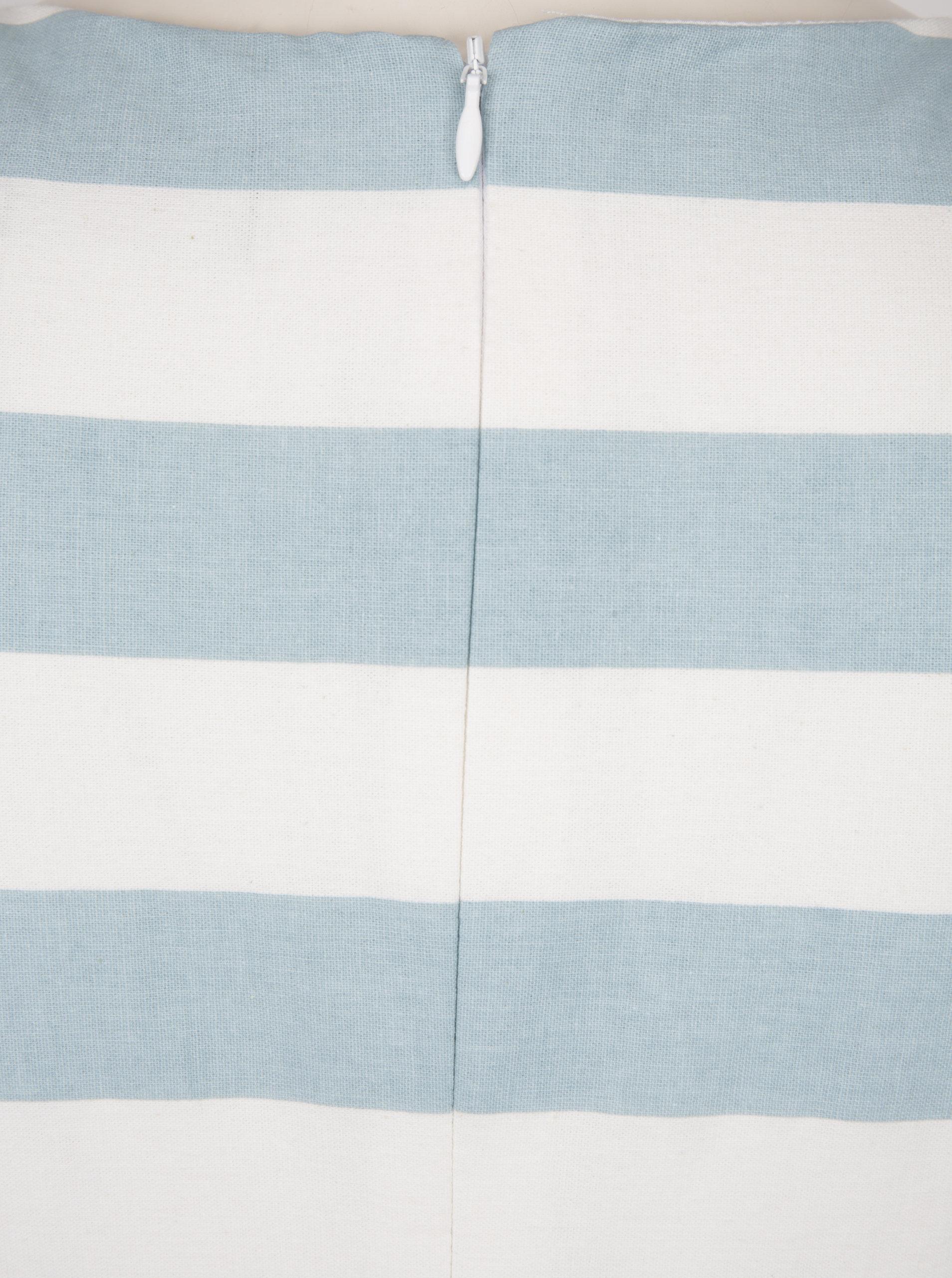 8521ff8daaaa Světle modré pruhované šaty s páskem Dolly   Dotty Annie - Akční ...