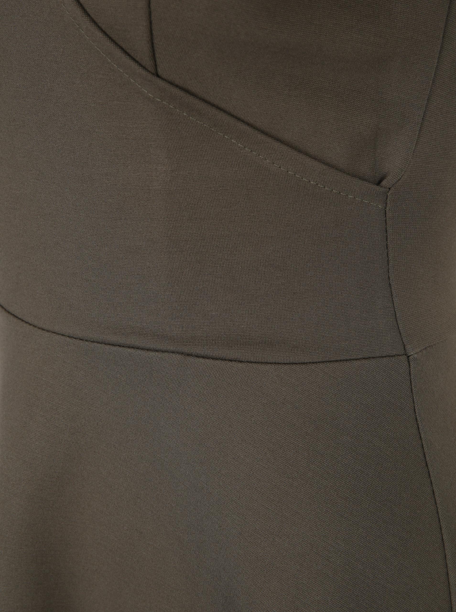 f4fc28fed8bb Khaki šaty s překládaným výstřihem ZOOT ...