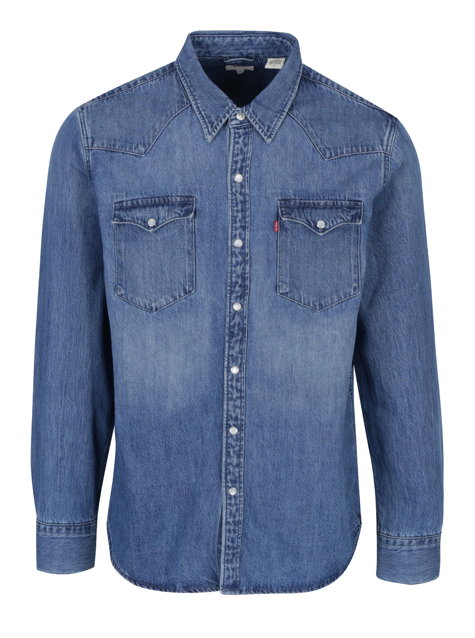 372cea2bbf Svetlomodrá pánska rifľová košeľa Levi s® ...
