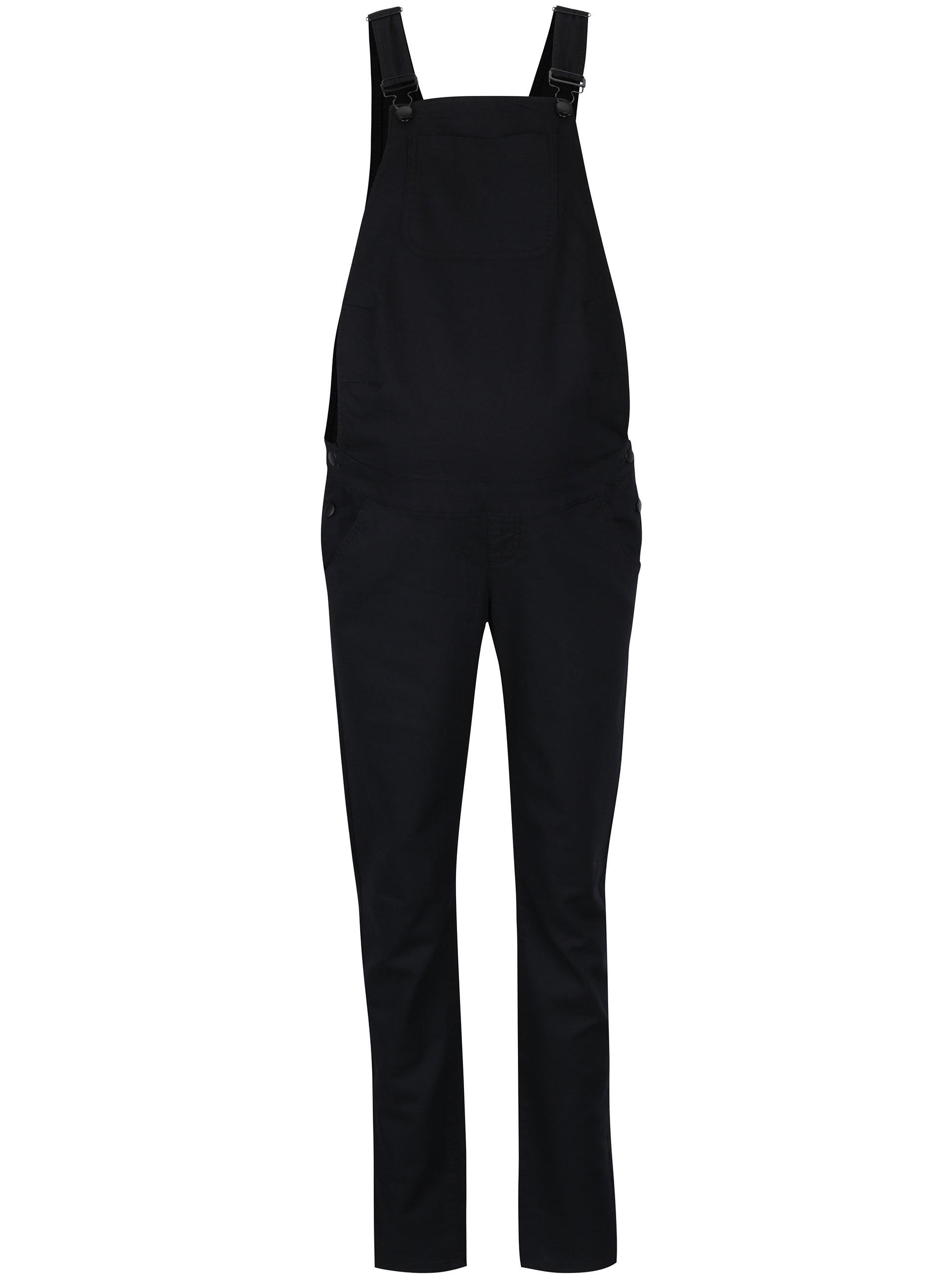 c9d3337a9f49 Čierne rifľové tehotenské nohavice na traky Mama.licious Elly ...