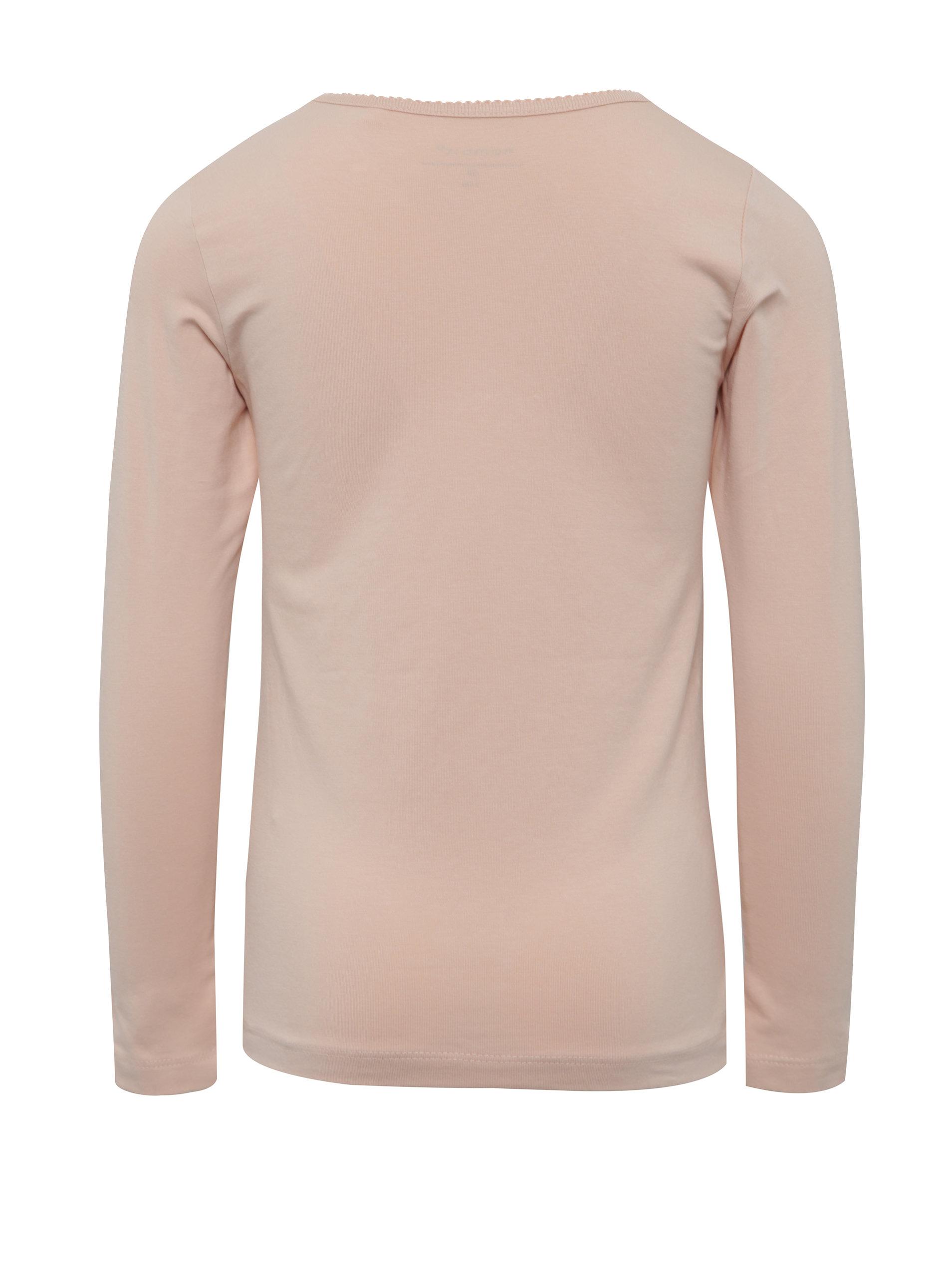 f78659db3060 Ružové dievčenské tričko s dlhým rukávom name it Viola ...