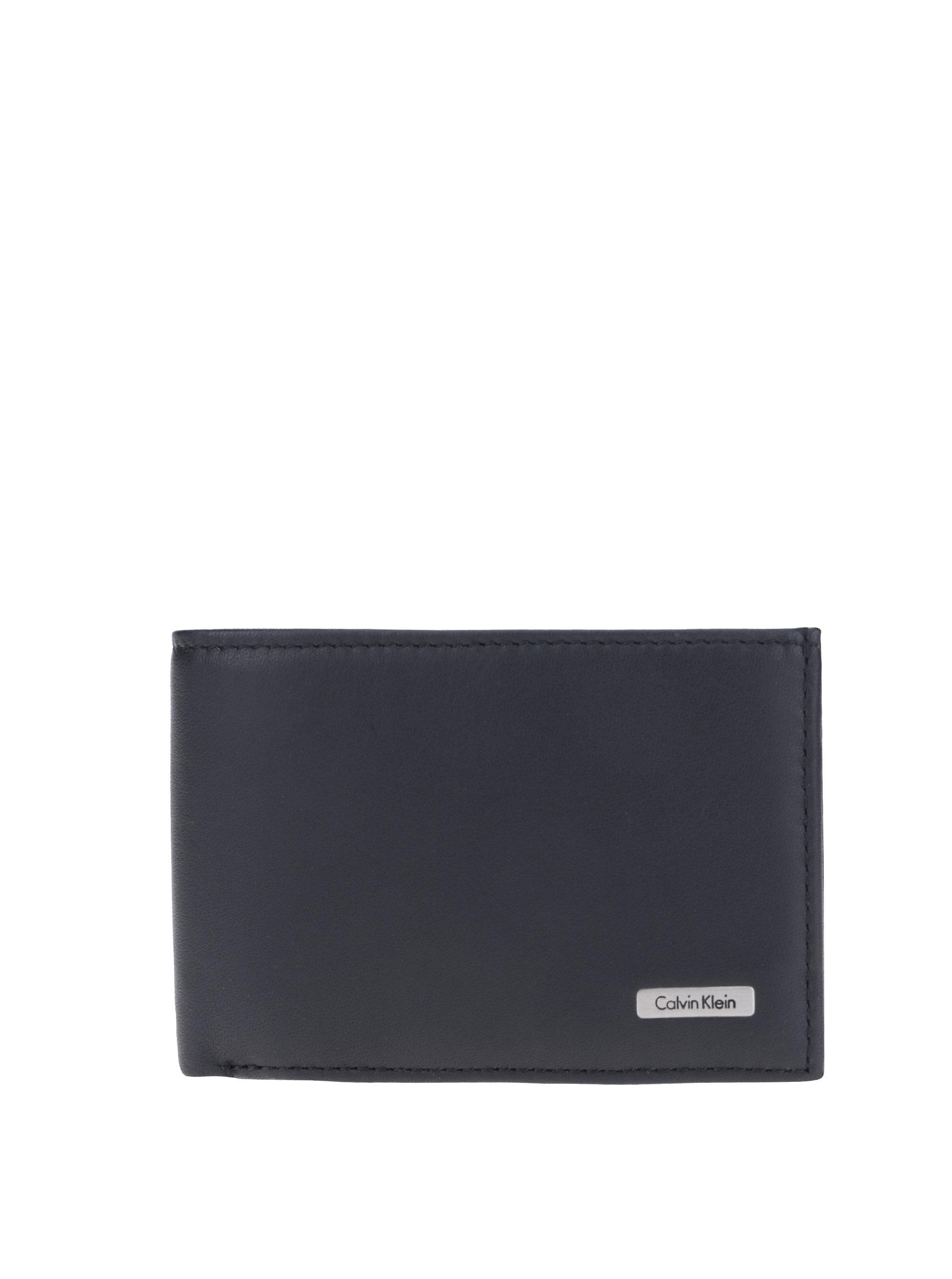 096c0f90bc Čierna pánska kožená peňaženka Calvin Klein Jeans ...
