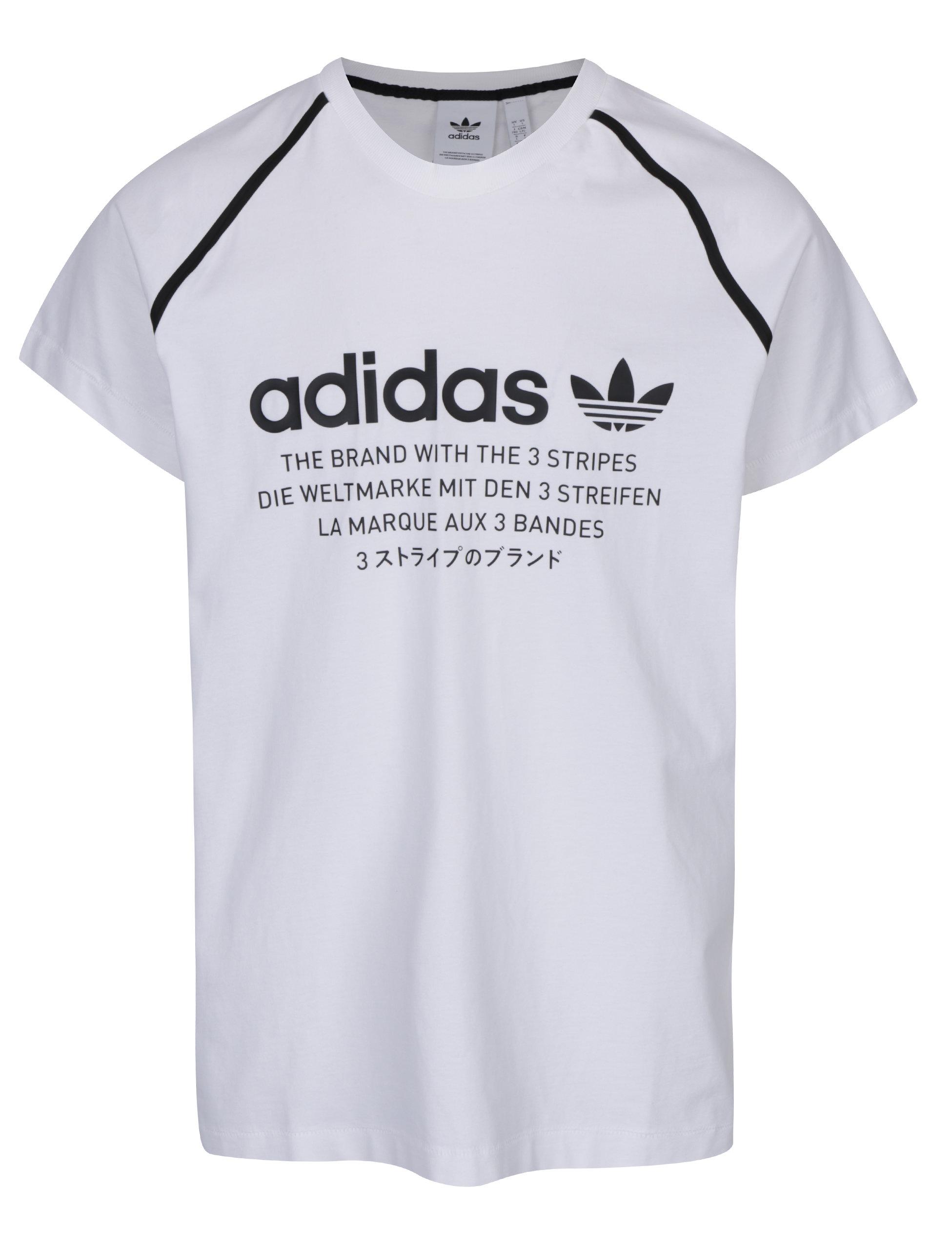 f44e65cf4593 Biele pánske tričko s potlačou adidas Originals ...