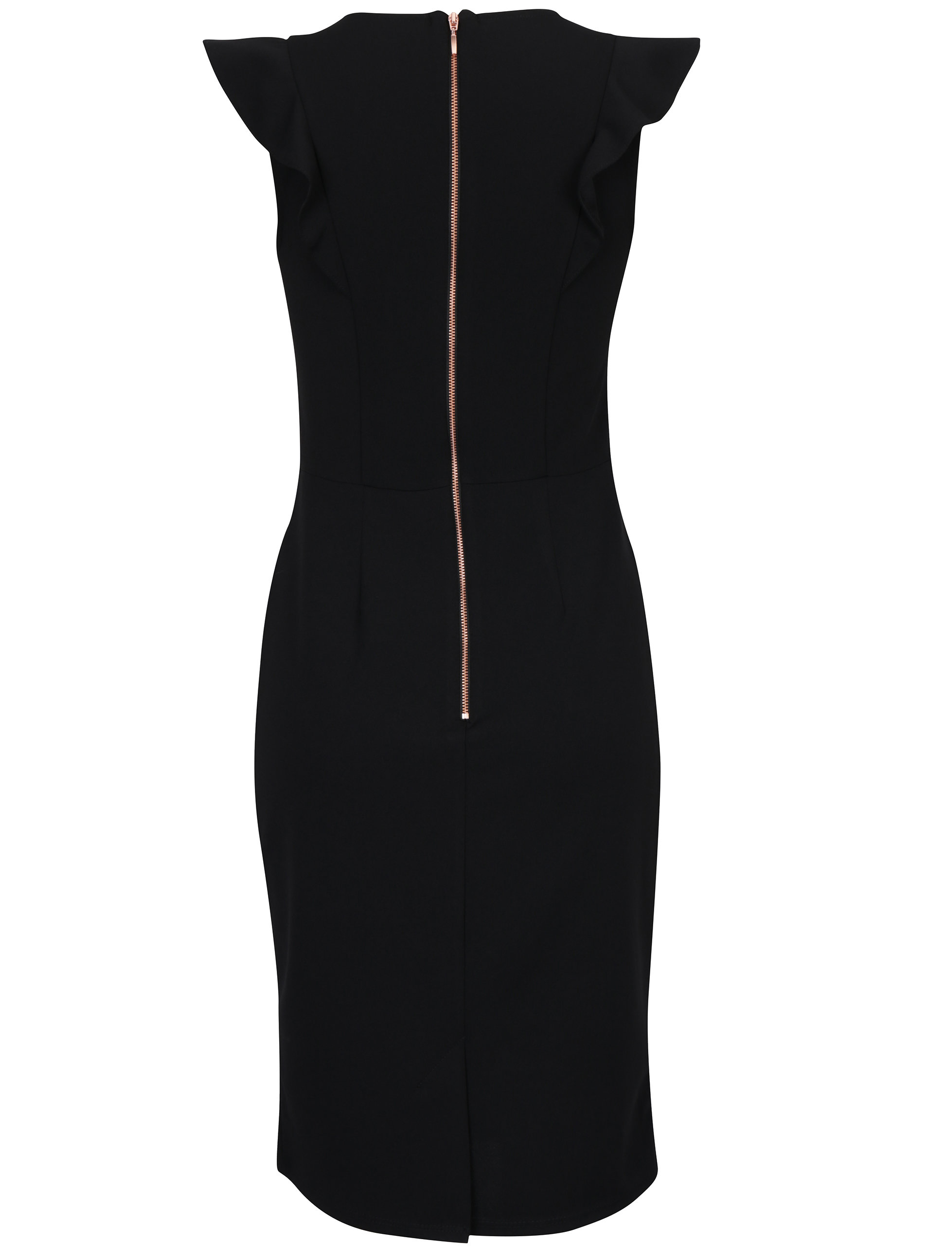 Černé pouzdrové šaty se zipem na zádech Dorothy Perkins ... ee4d709a67