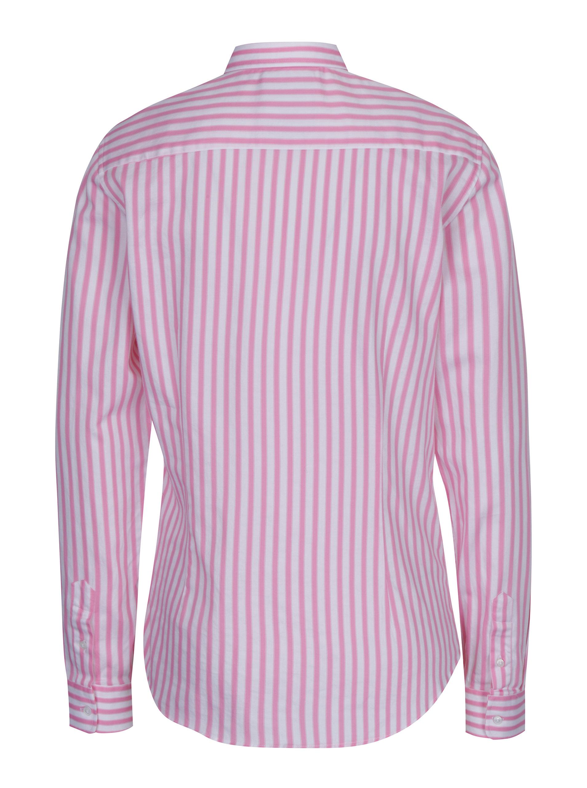 92741367a16c Bielo-ružová dámska pruhovaná košeľa Jimmy Sanders ...