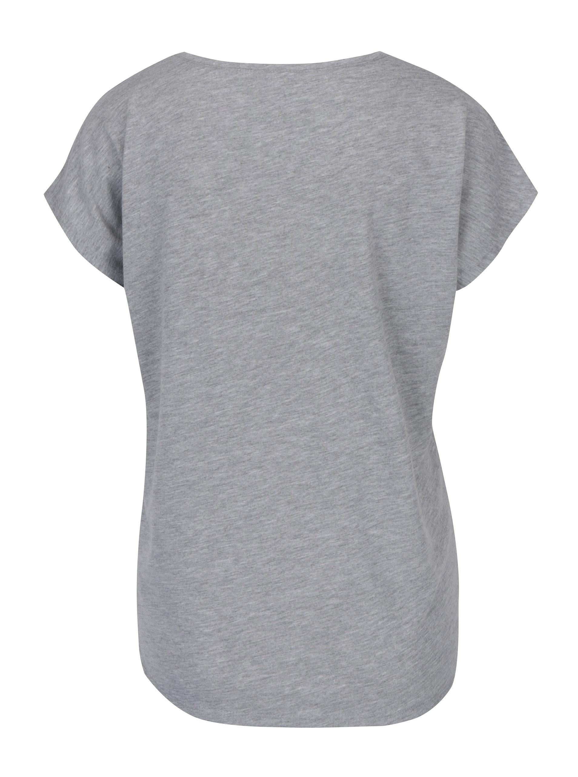 3c7263d089 Šedé tričko s potiskem Haily´s Couple ...