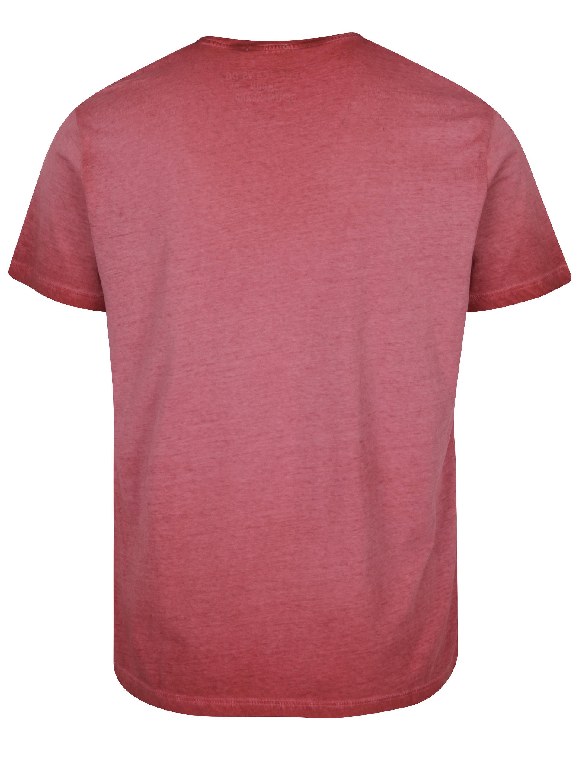 b2bb2b95d08 Červené pánské tričko s nápisem Pepe Jeans West Sir II ...