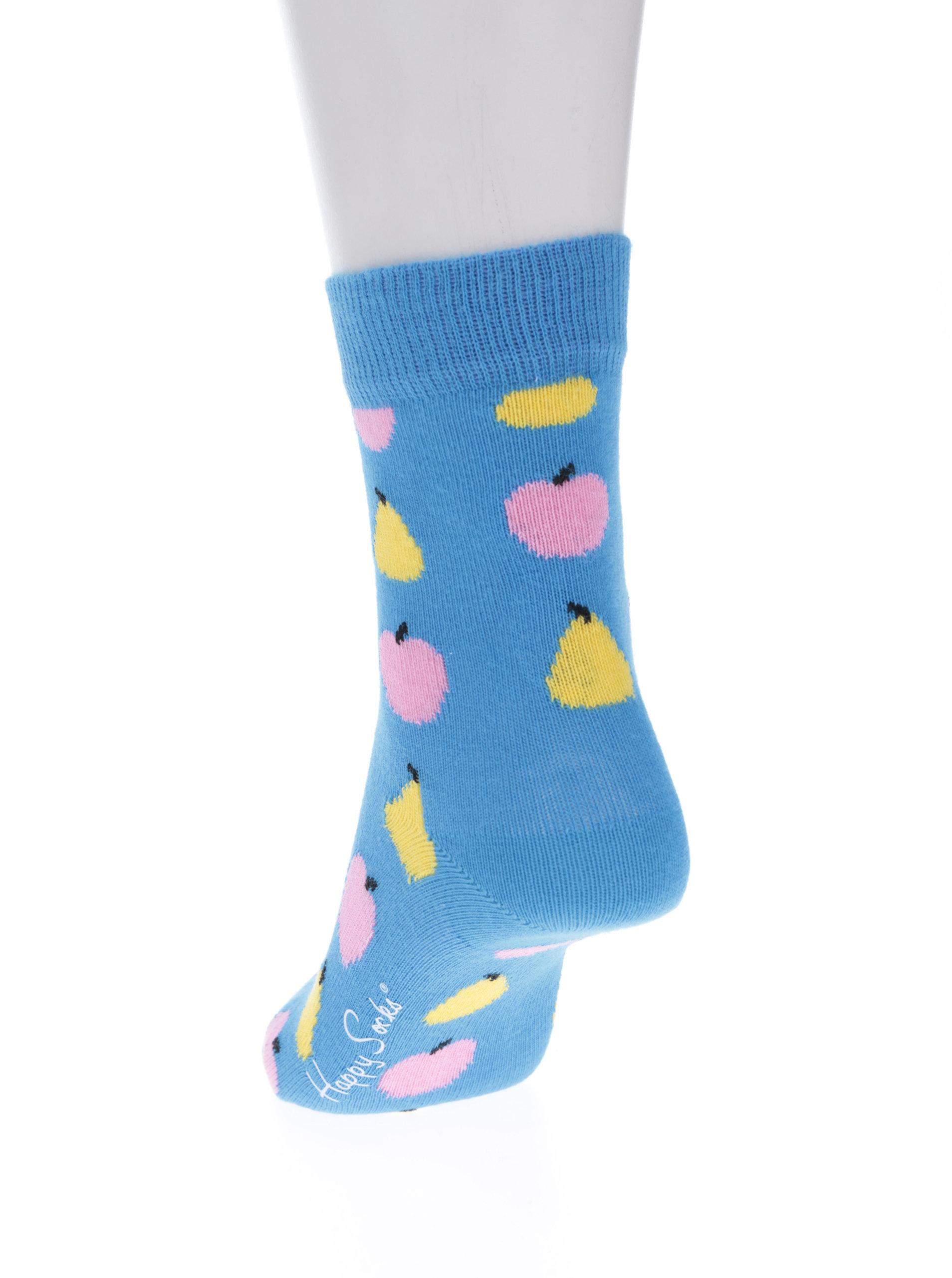e1654bd78a0 Modré dětské ponožky s motivem ovoce Happy Socks Fruit ...