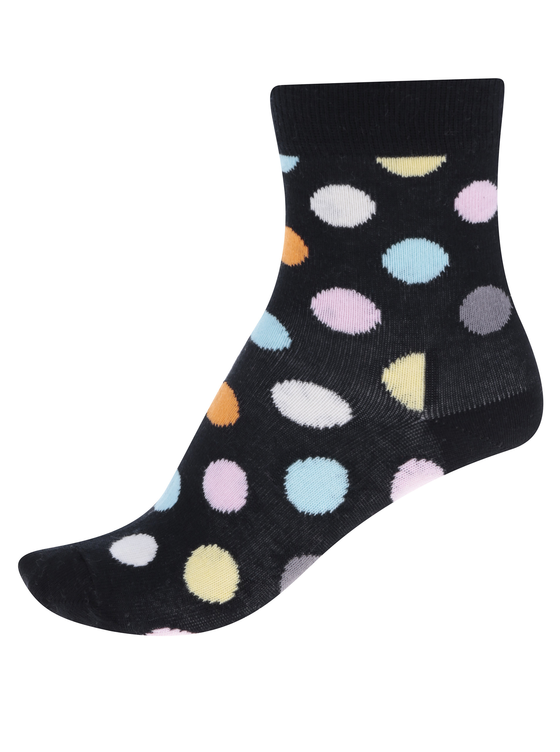 Černé dětské puntíkované ponožky Happy Socks Big Dot ... 8ad6704f6b