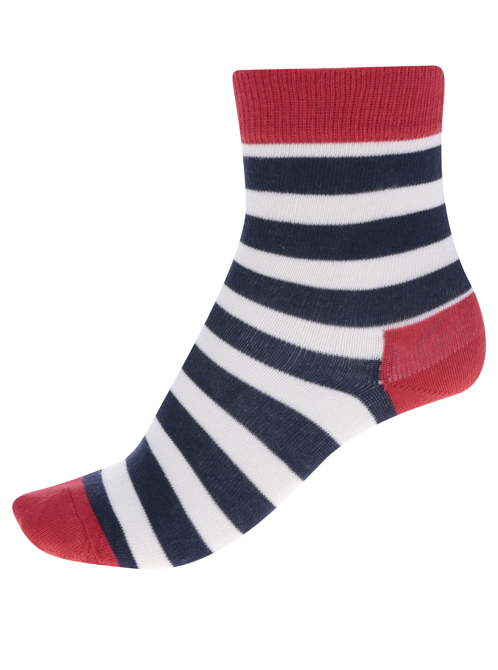 Modro-červené detské pruhované ponožky Happy Socks Stripe ... b23e5d7c26