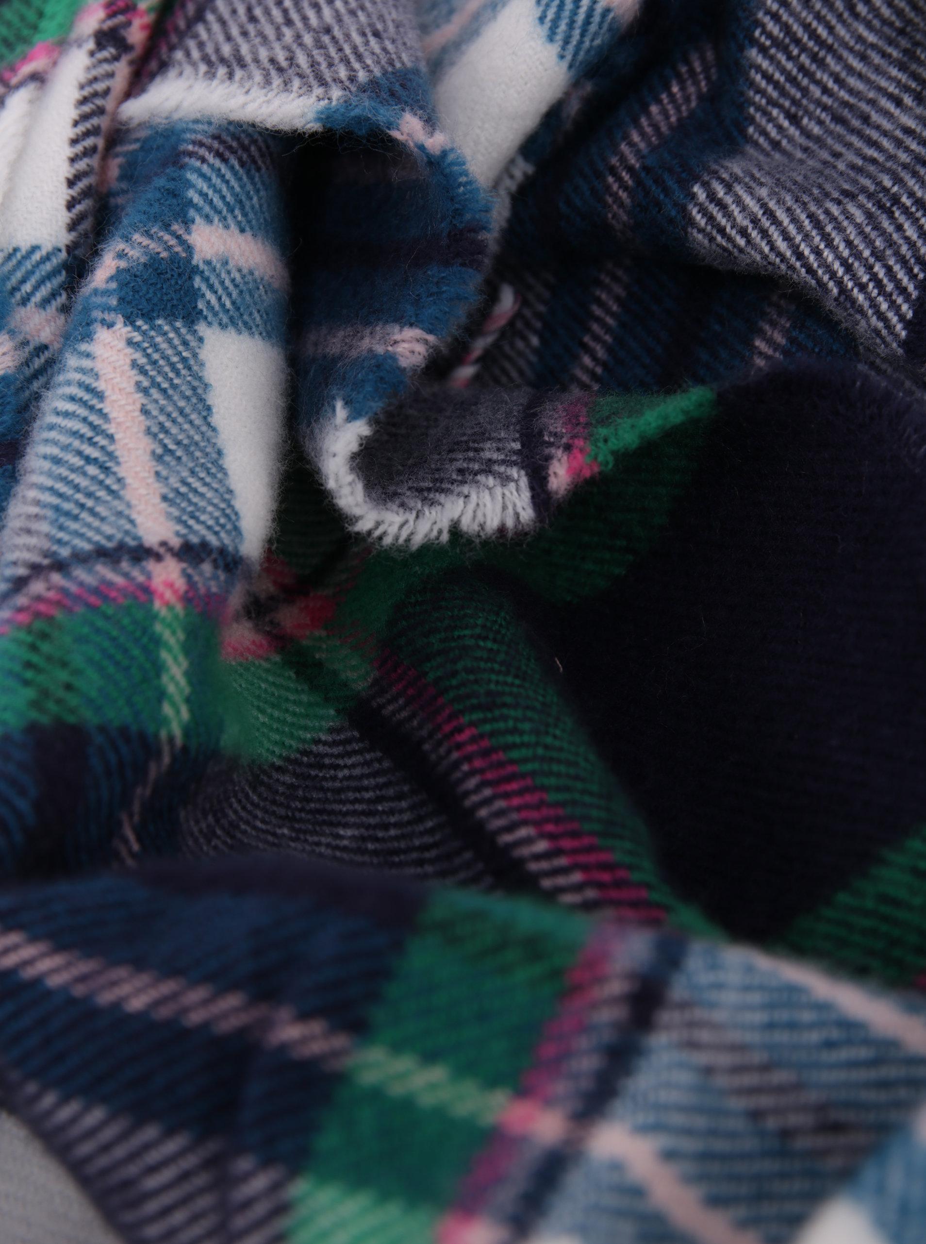 9f56c9e52ae Tmavě modrá dámská kostkovaná šála Tom Joule Bracken ...