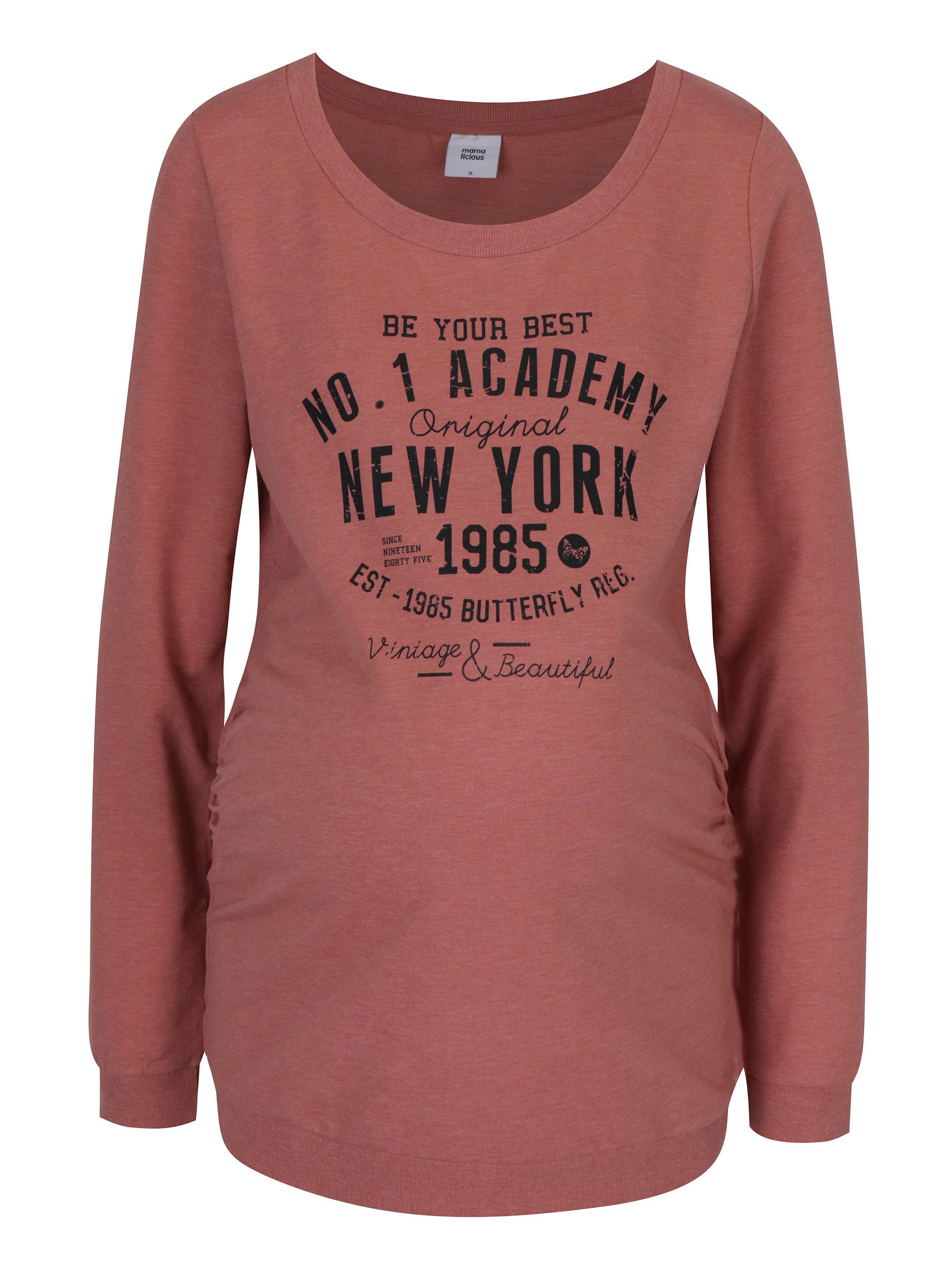 bae70d88eea5 Ružové tehotenské tričko s potlačou Mama.licious Sign ...