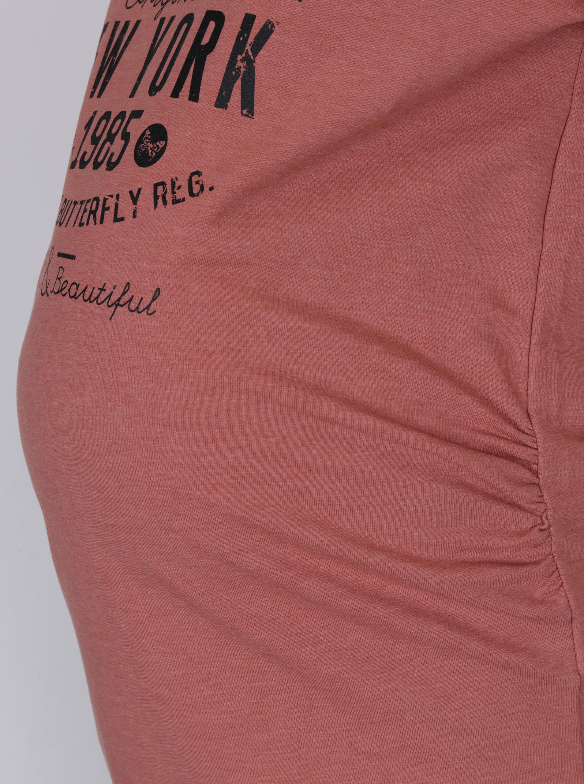 Růžové těhotenské tričko s potiskem Mama.licious Sign ... c0bb00c820