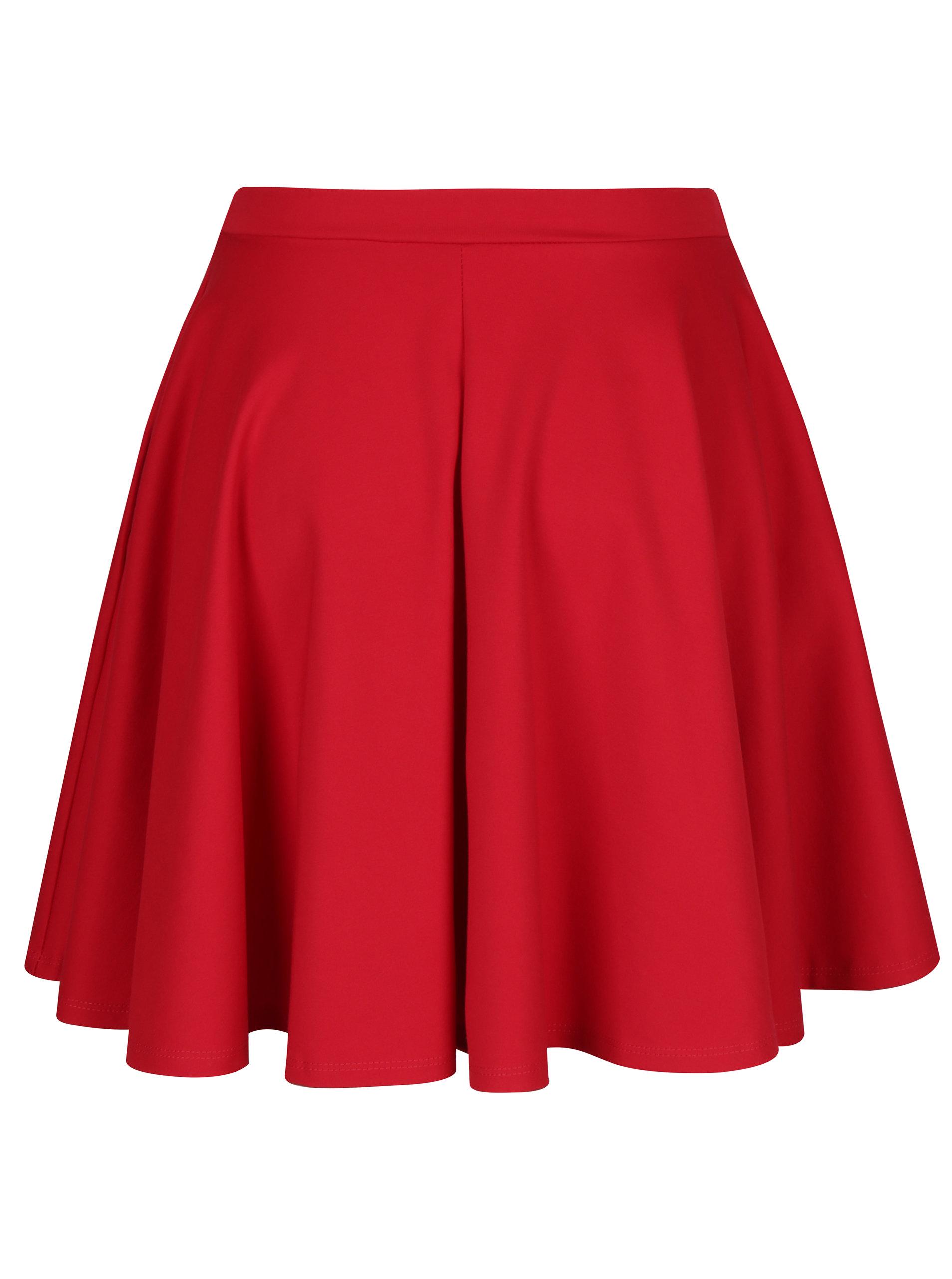 22648bf081d2 Červená kolová sukně s kapsami ZOOT ...