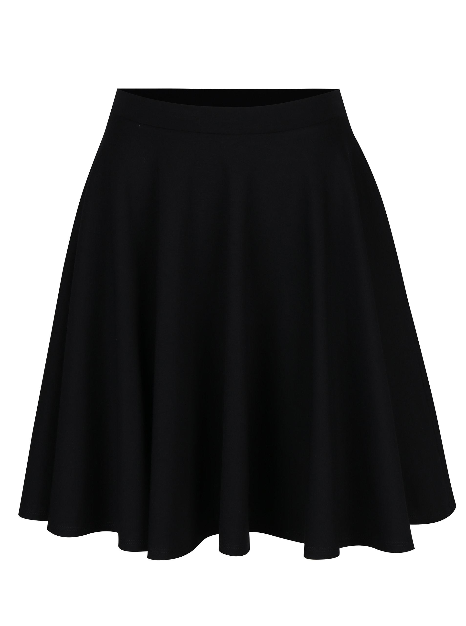 7025eaa03cb Černá kolová sukně s kapsami ZOOT ...
