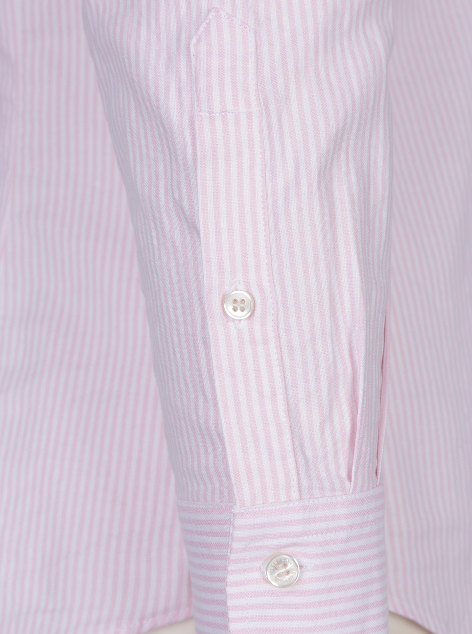 Bílo-růžová dámská pruhovaná košile GANT ... 1af6c208e4