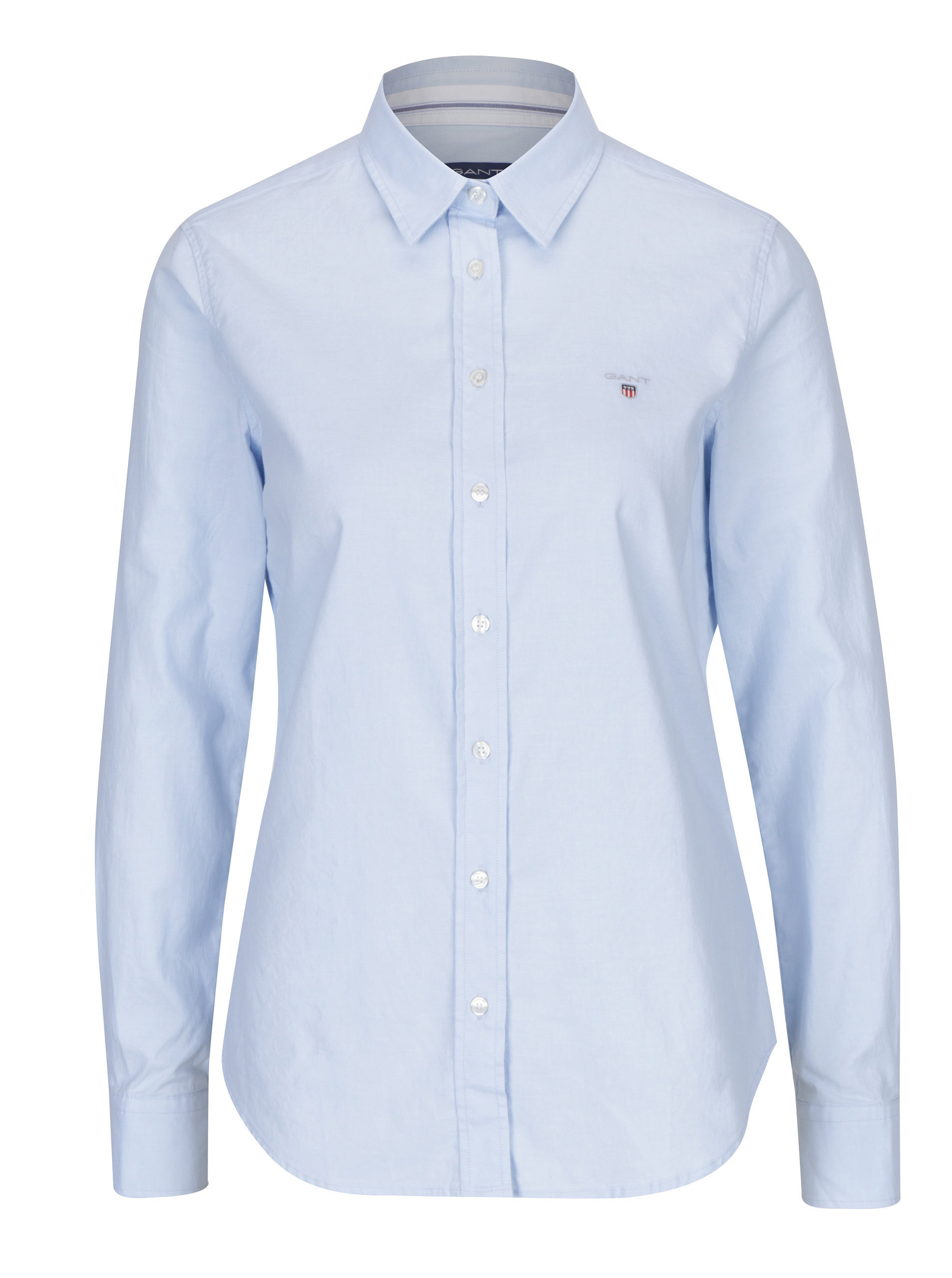 Světle modrá dámská slim košile GANT ... b9fafba5a1