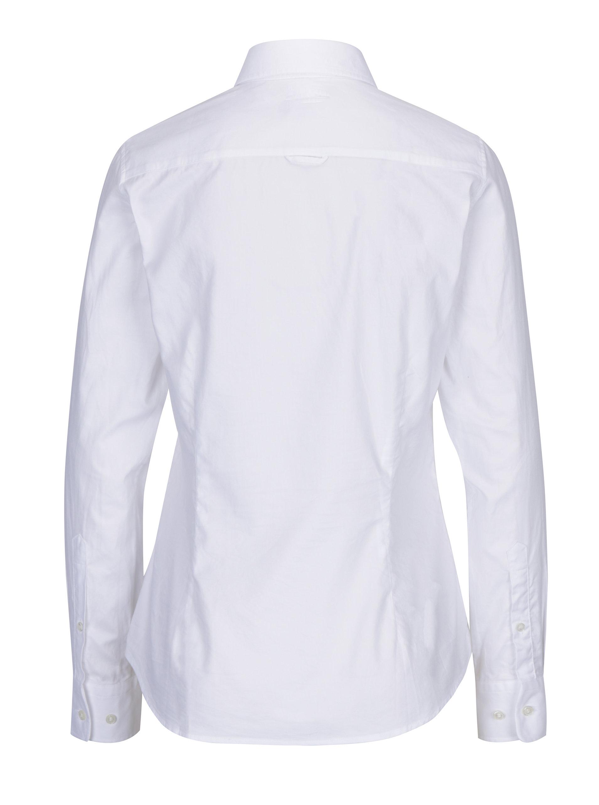234fa551f776 Biela dámska slim košeľa GANT ...