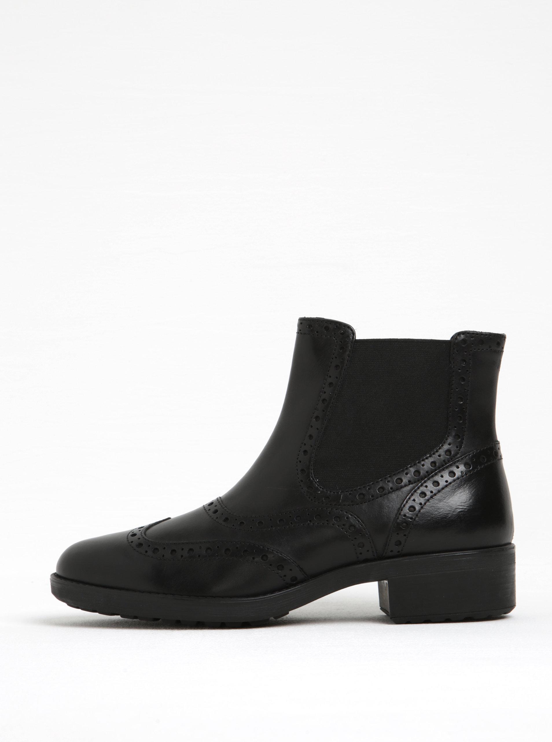 e9534c1fff Čierne dámske kožené chelsea topánky Geox Ettiene B ...