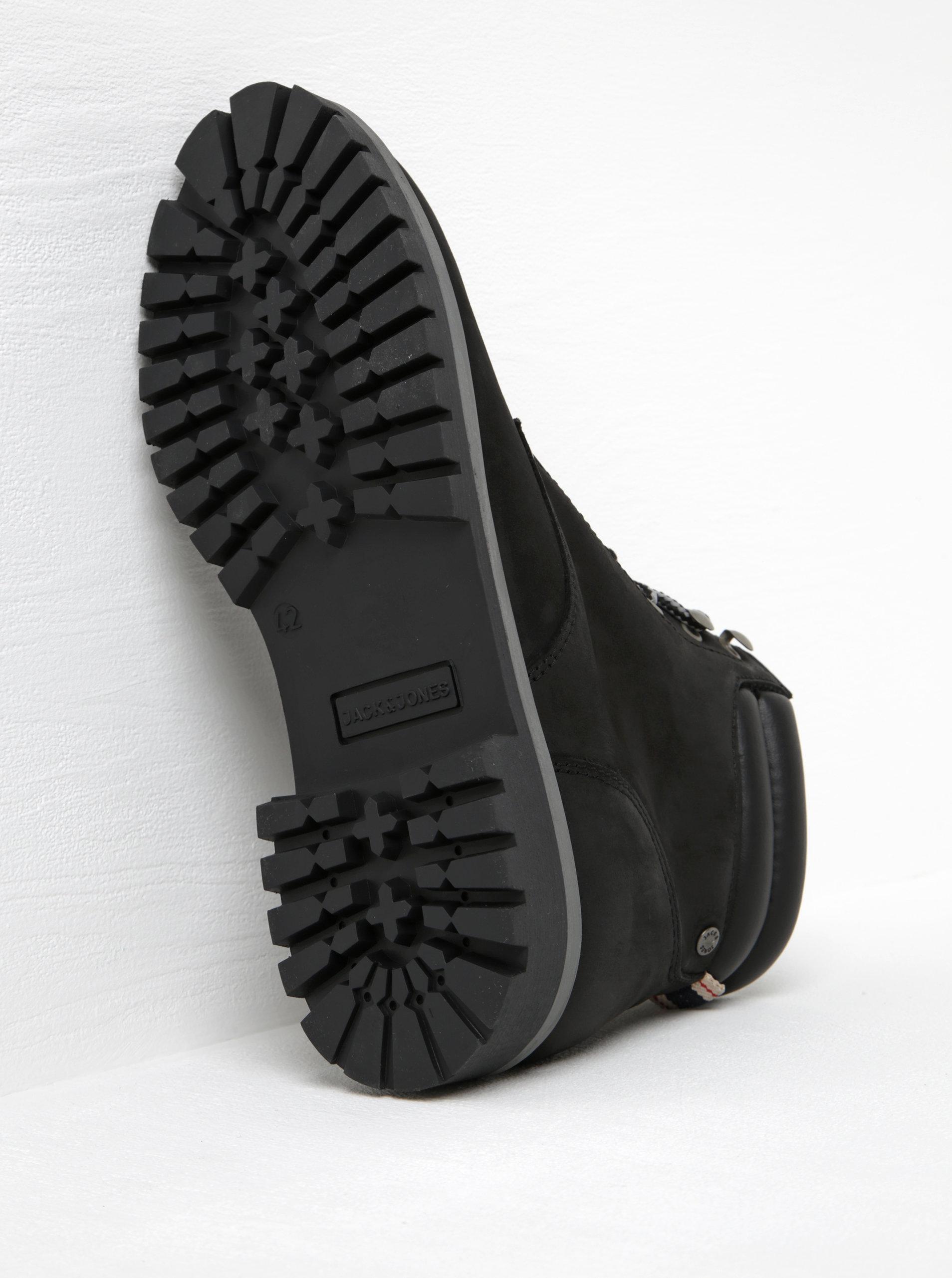 a448717e651 Černé kotníkové boty Jack   Jones Stoke ...