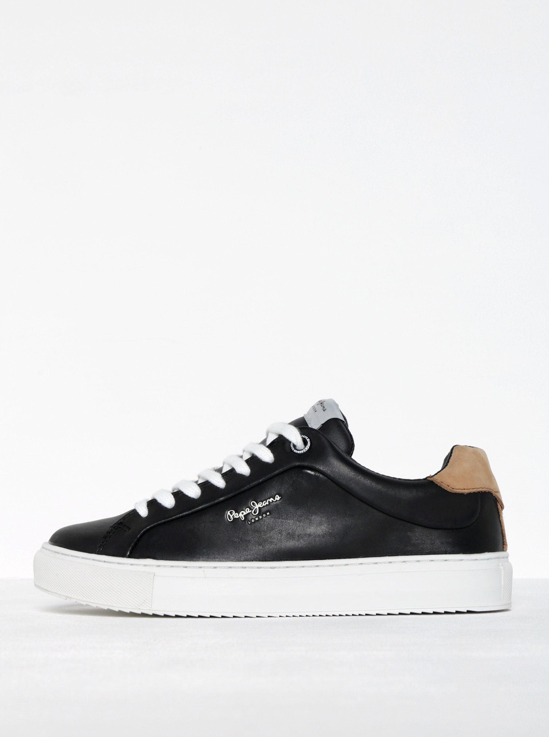 Černé dámské kožené tenisky Pepe Jeans Adams Dasic ... dc9ebd7056