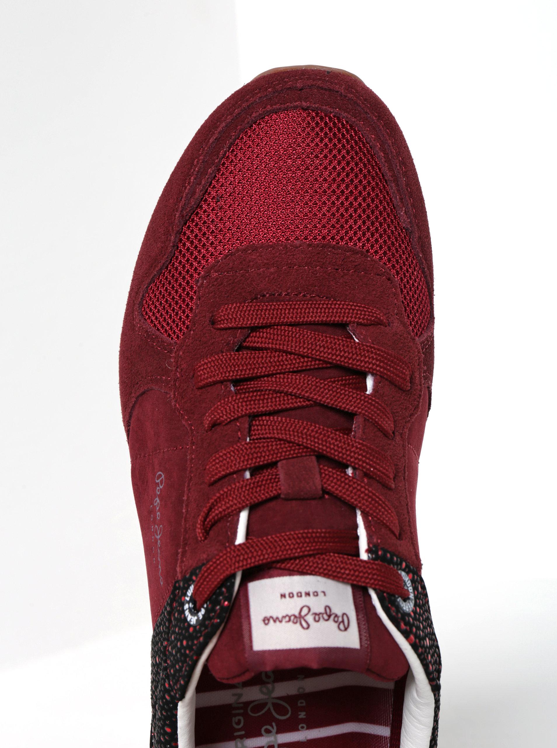 Vínové dámské tenisky Pepe Jeans Verona Flash ... 3d0481ed26