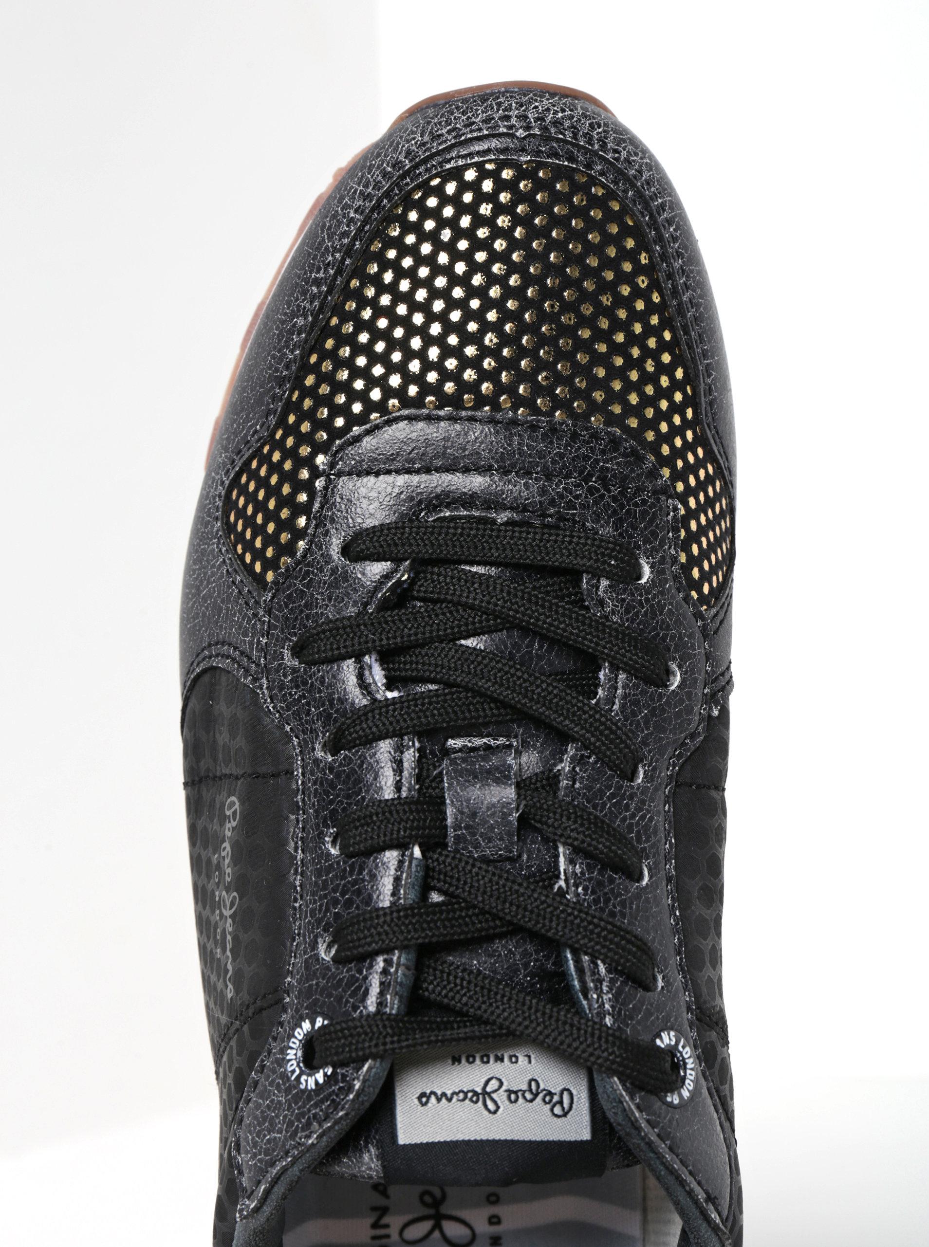 b31d9ca6b2b00 Čierne dámske tenisky Pepe Jeans Verona Remake | ZOOT.sk