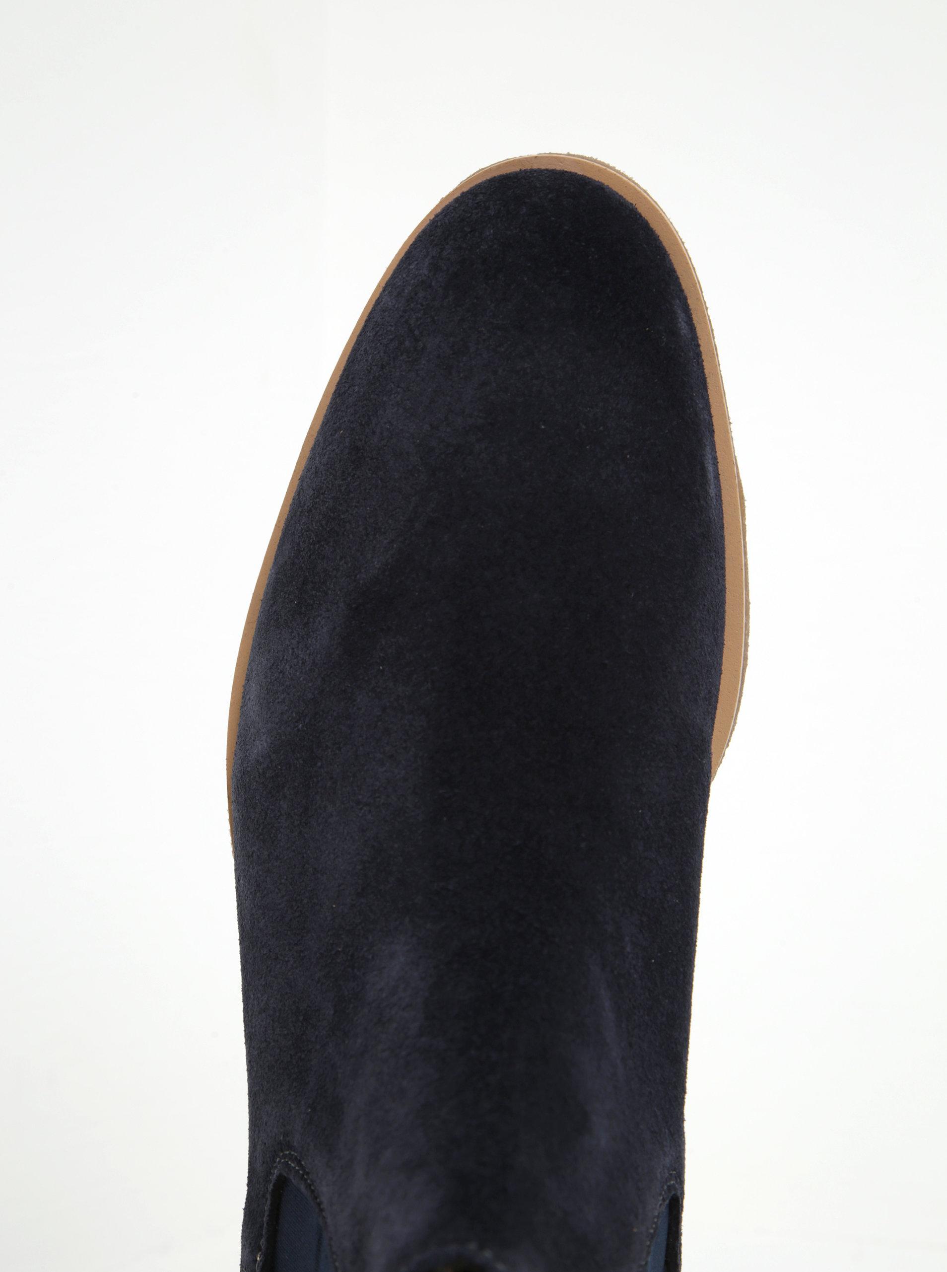 b0a490104 Tmavomodré pánske semišové chelsea topánky Tommy Hilfiger William ...