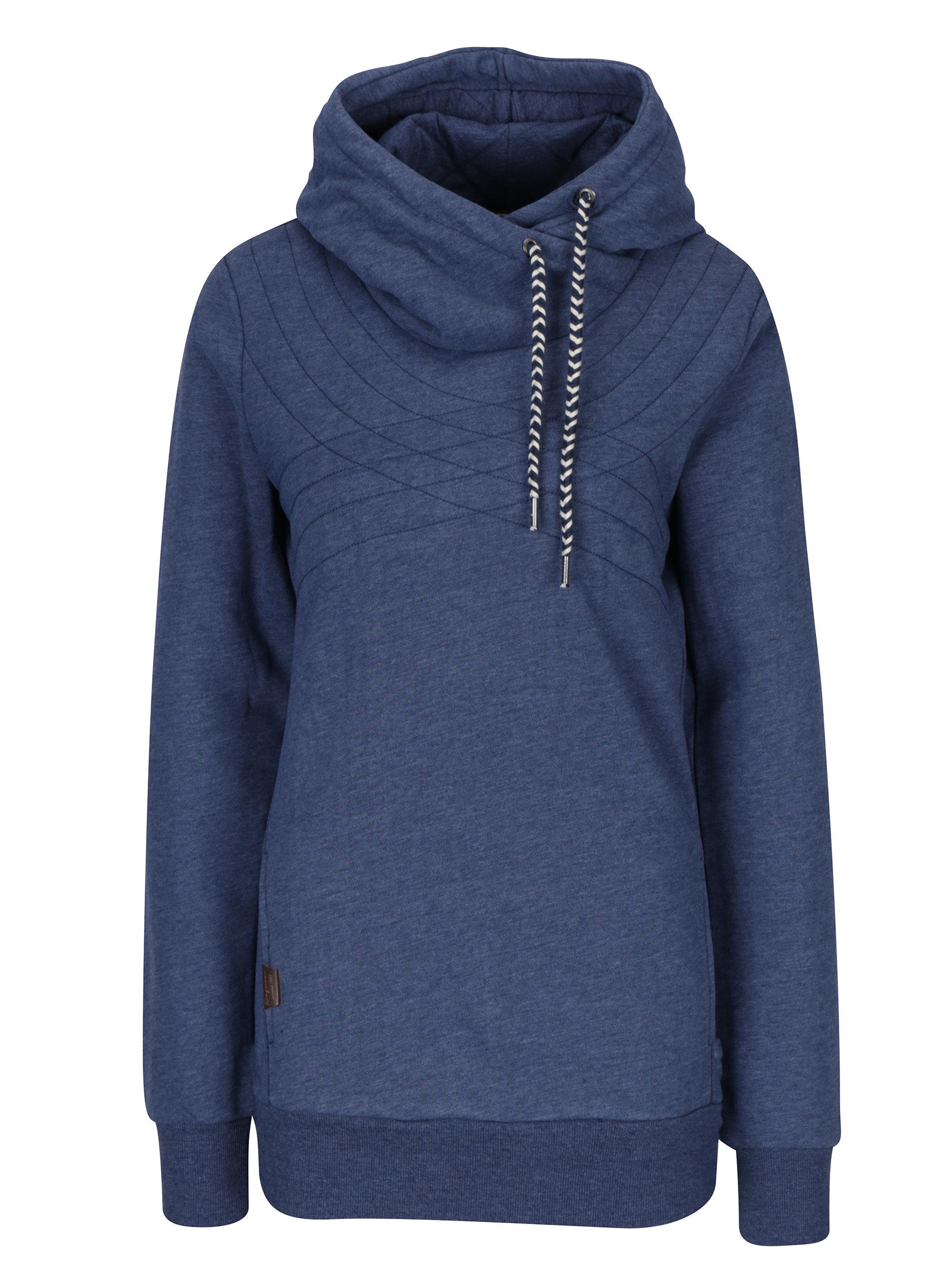 Modrá dámská dlouhá žíhaná mikina s kapucí Ragwear Kinsley ... 4463843c69