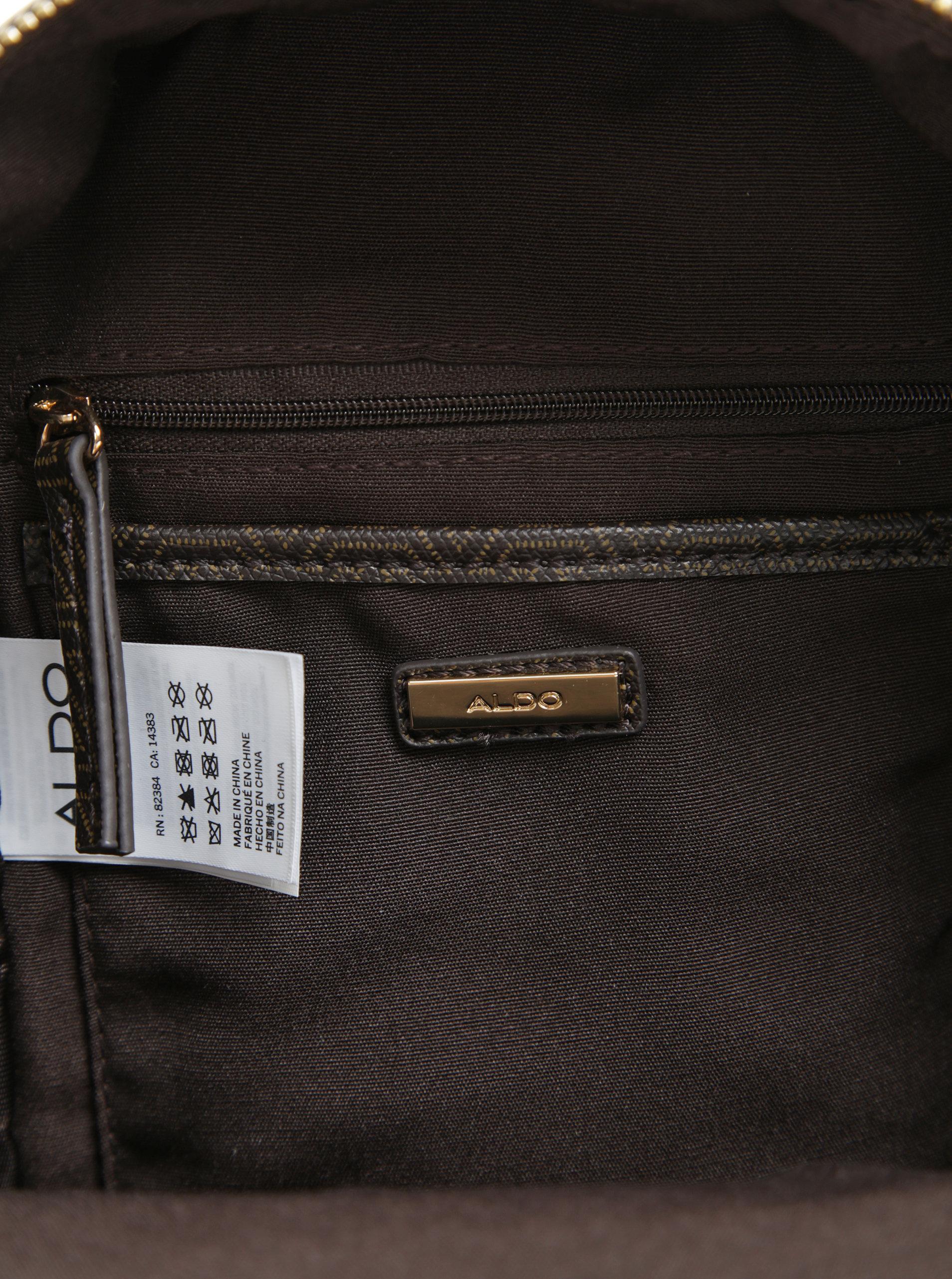 Hnědý dámský malý vzorovaný batoh ALDO Parma ... a3b548553d