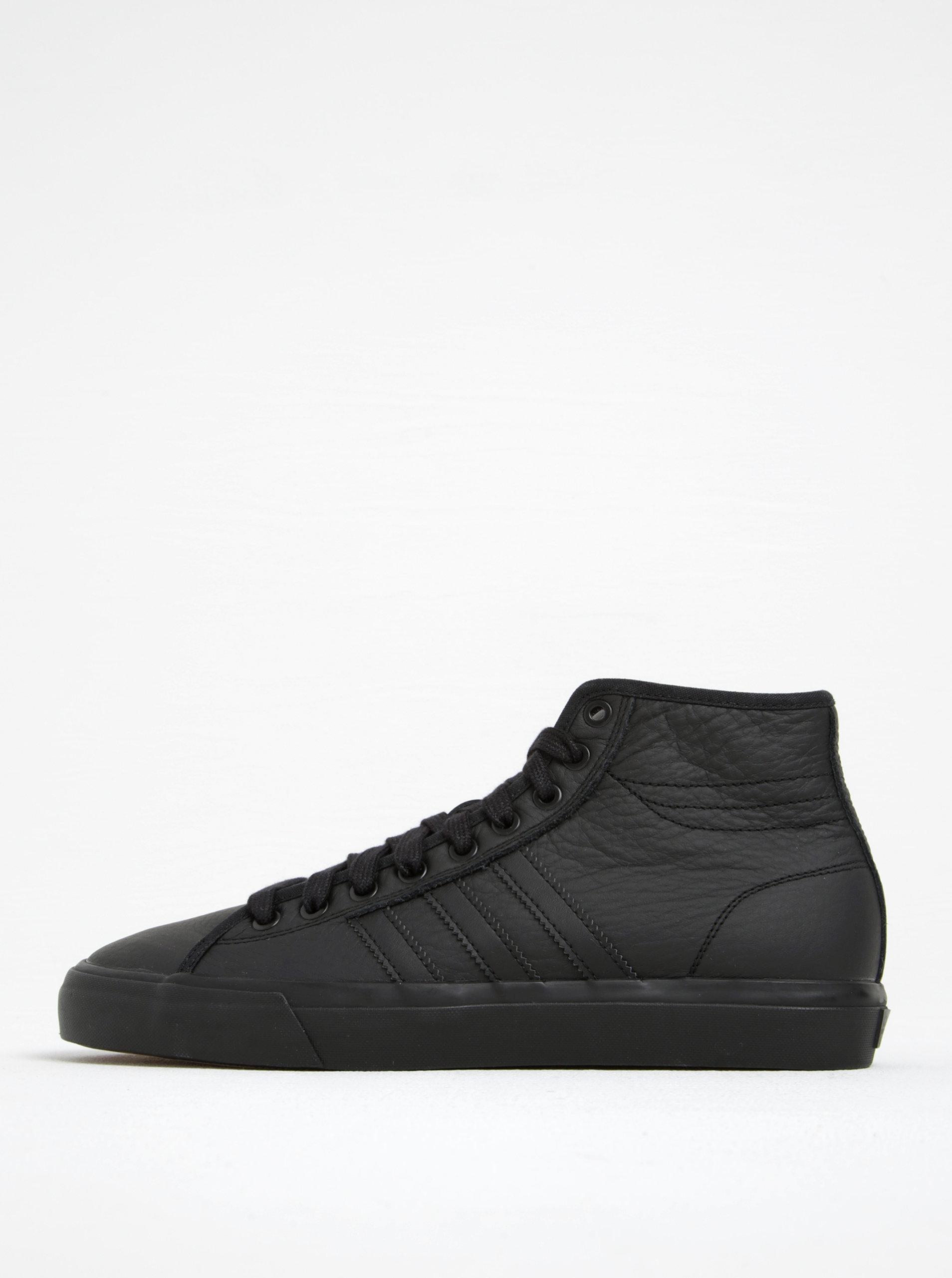 0350488ad Černé pánské kožené kotníkové tenisky adidas Originals Matchcourt High ...