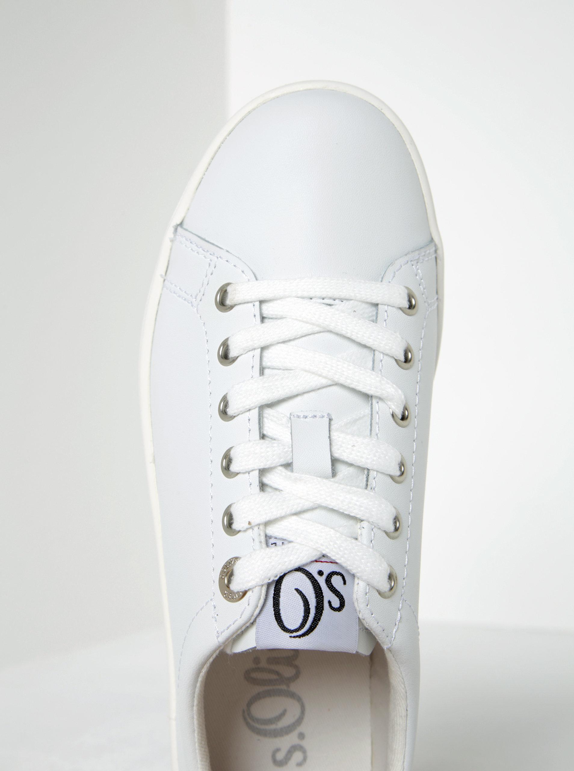 898a4f3affffd Biele dámske kožené tenisky s.Oliver | ZOOT.sk