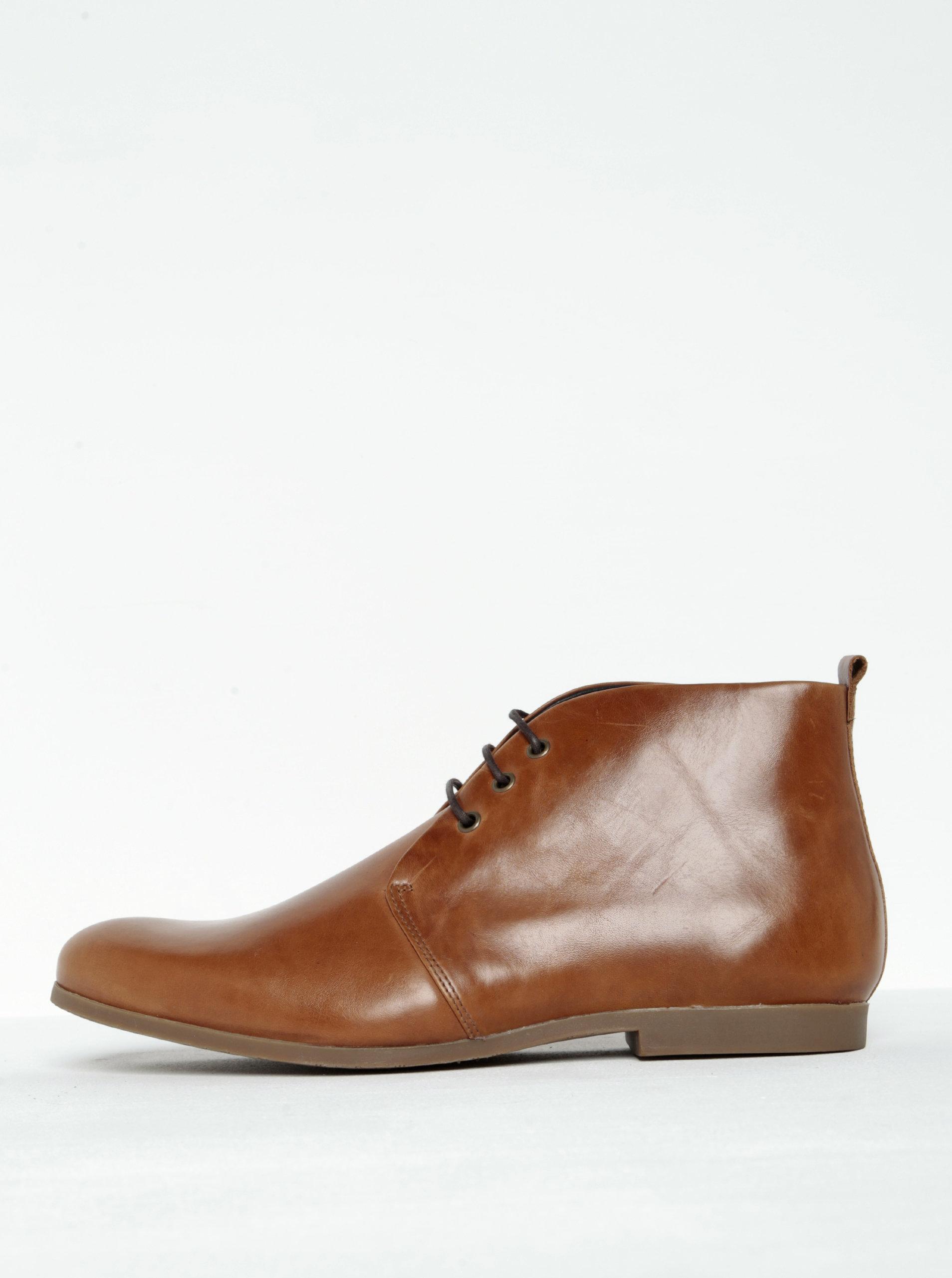 Hnědé pánské kožené kotníkové boty Royal RepubliQ ... 02a5e3199b5
