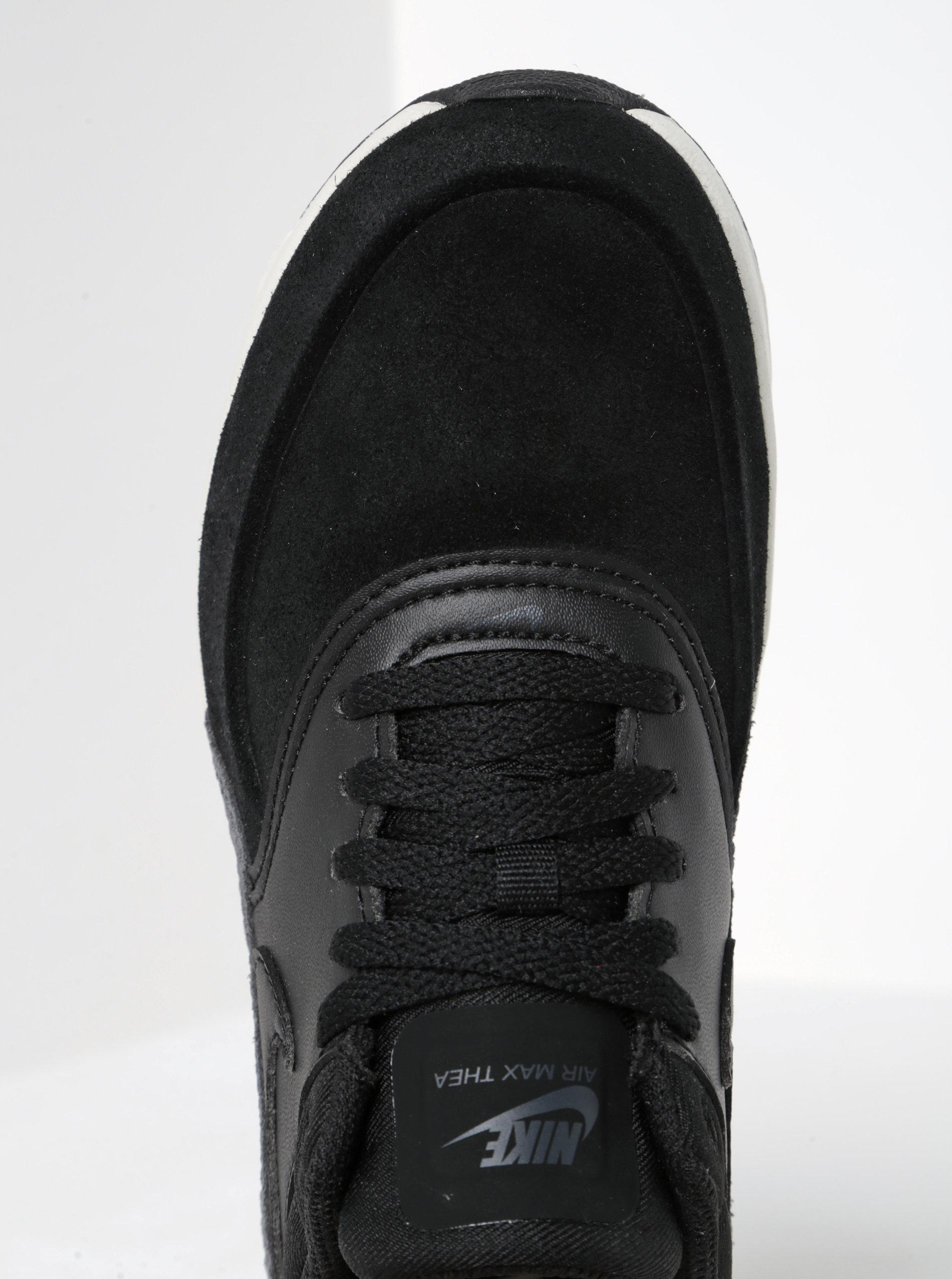 Čierne dámske semišové tenisky so štruktúrovanými detailmi Nike Air Max ... a965ecc25c7