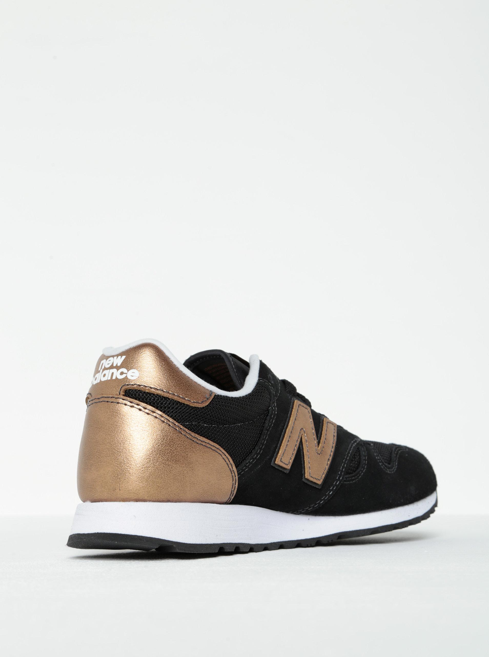 bee485ba90a Čierne dámske tenisky s detailmi v bronzovej farbe New Balance ...