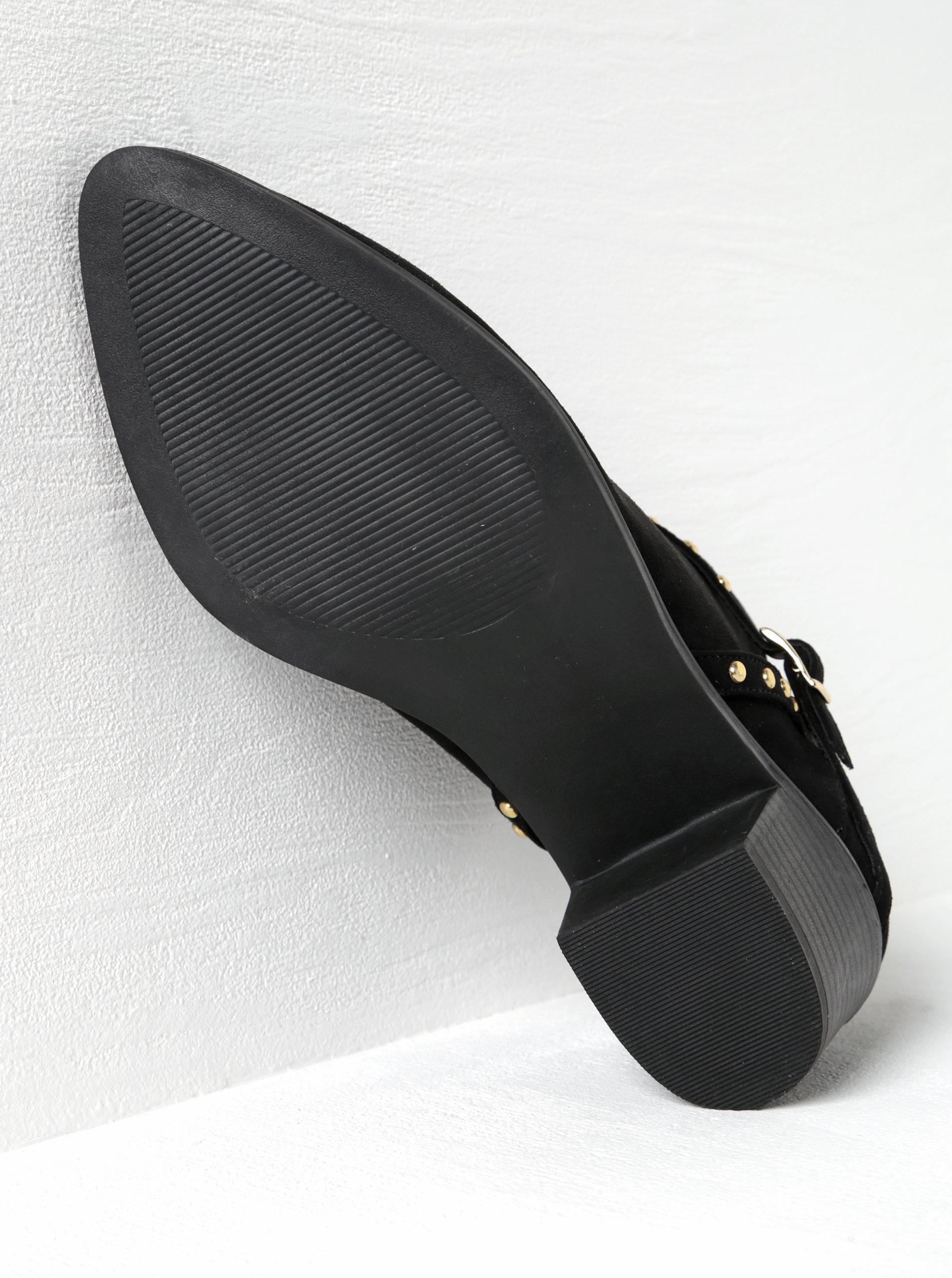 d219ff2a4d74 ... Černé kotníkové boty v semišové úpravě na podpatku s ozdobnými detaily Miss  Selfridge