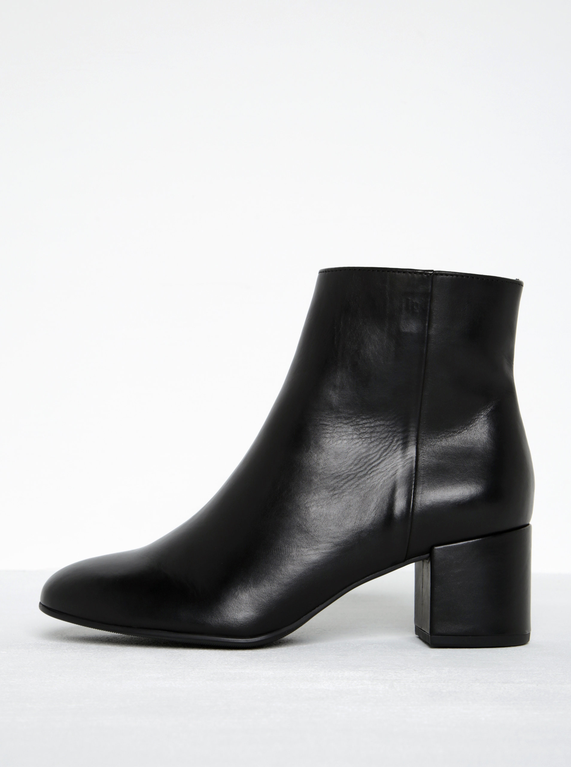 fb92fbb57317 Černé kožené kotníkové boty na podpatku Högl - Akční cena