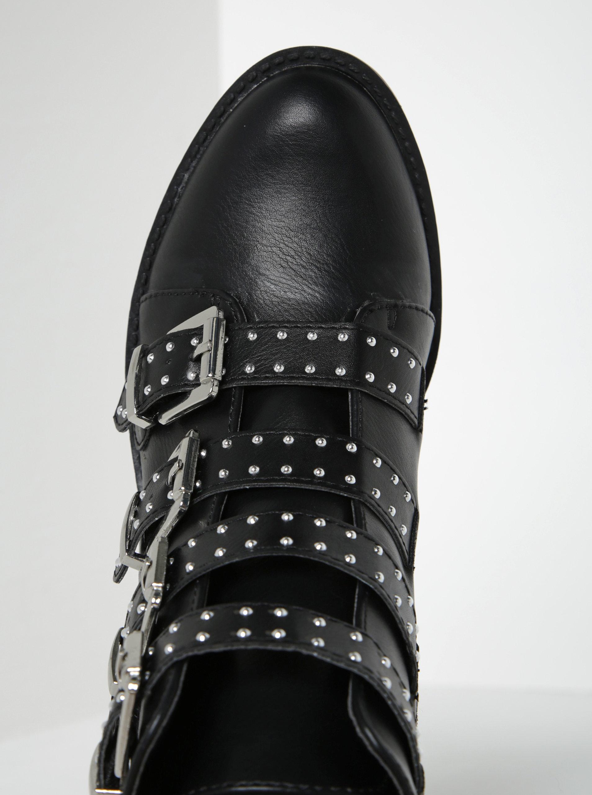 0b2071a5d46 Černé kotníkové boty s přezkami Dorothy Perkins ...