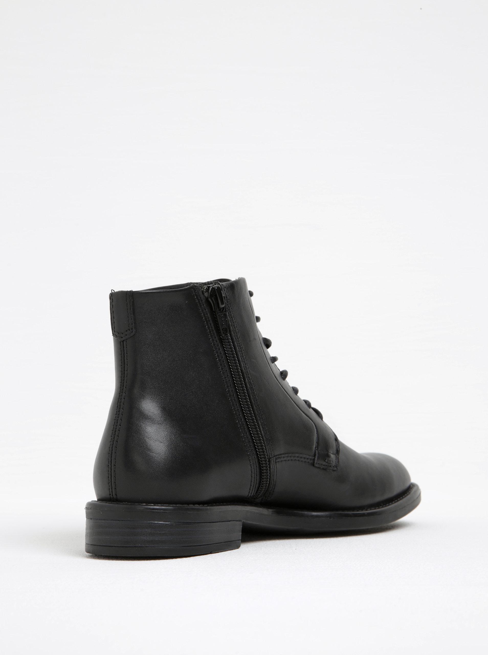 Čierne dámske kožené členkové topánky Vagabond Amina ... dd83b382789