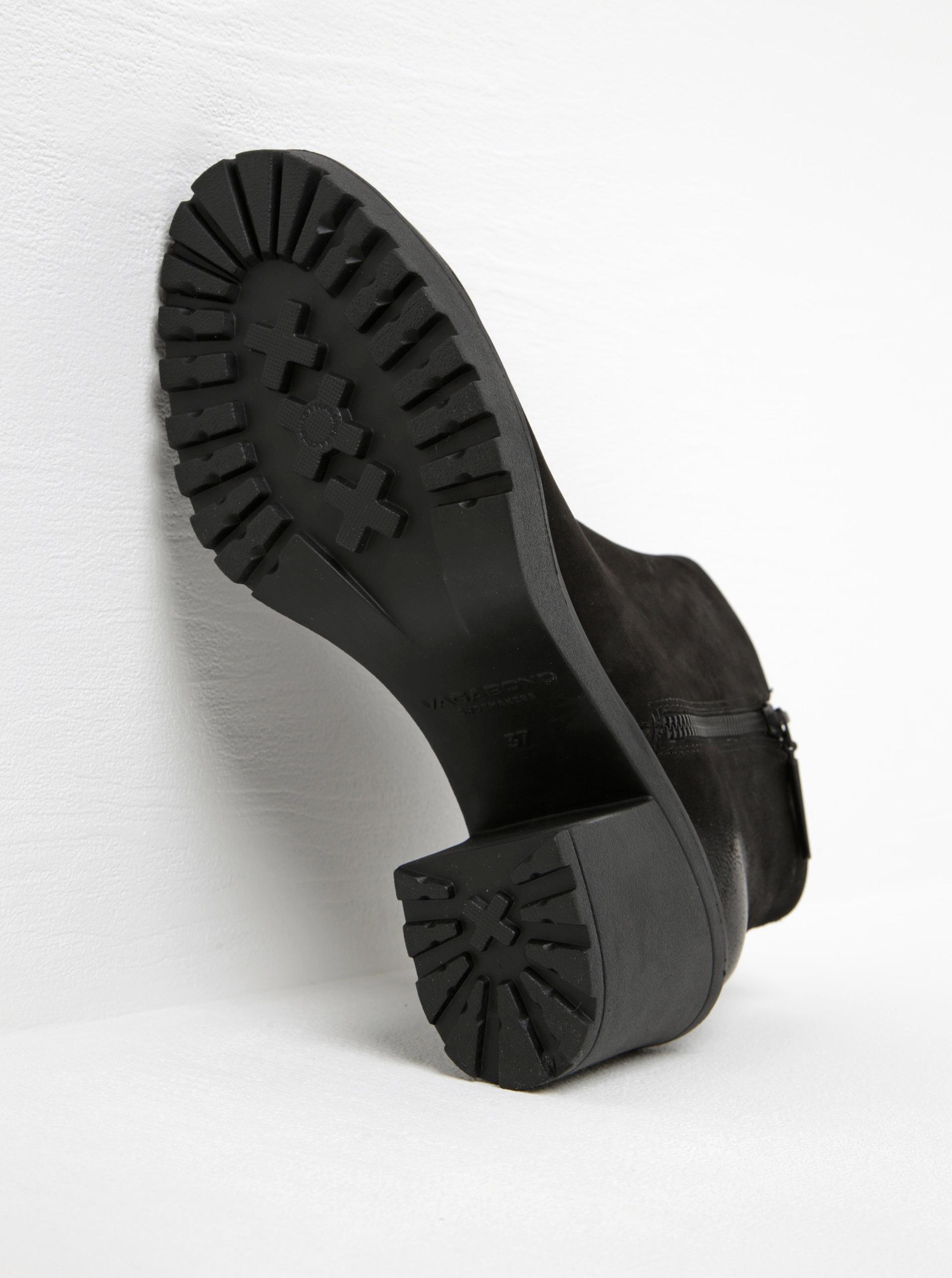Čierne dámske kožené členkové topánky ny širokom podpätku Vagabond Grace ... 72e97dd0cfd
