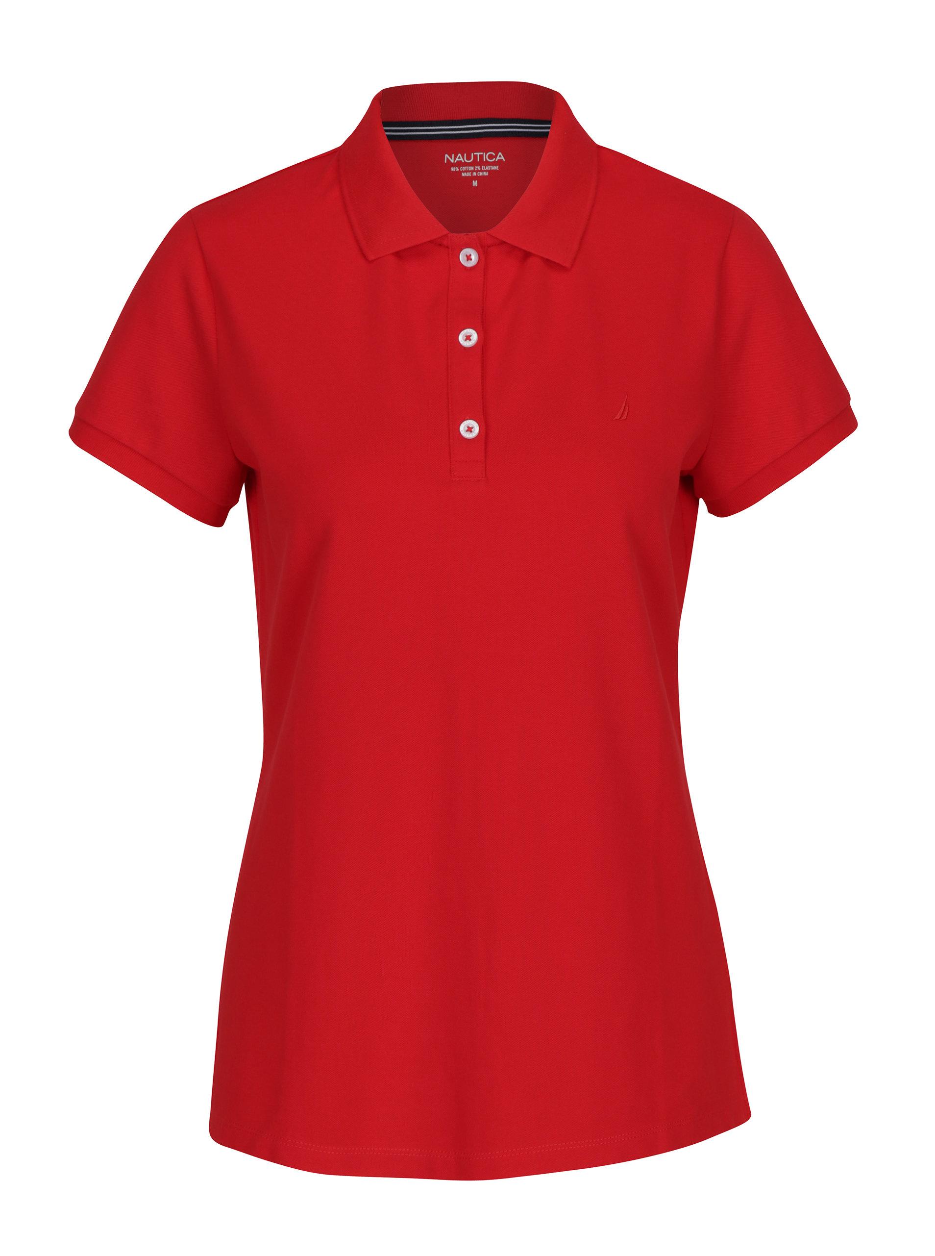 3715edd8321 Červené dámské polo tričko Nautica ...