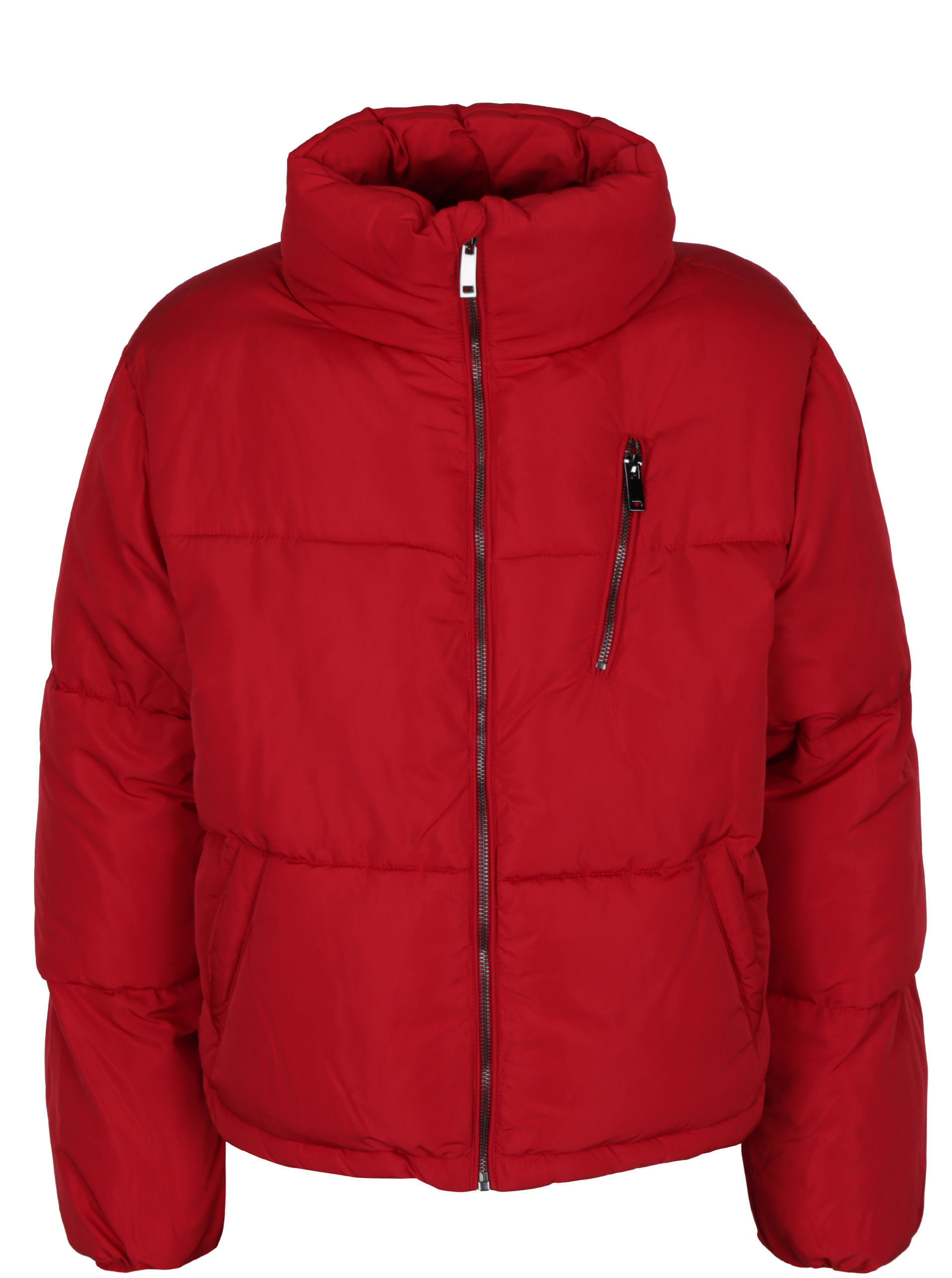 Červená zimná bunda TALLY WEiJL ... 79f000deaad
