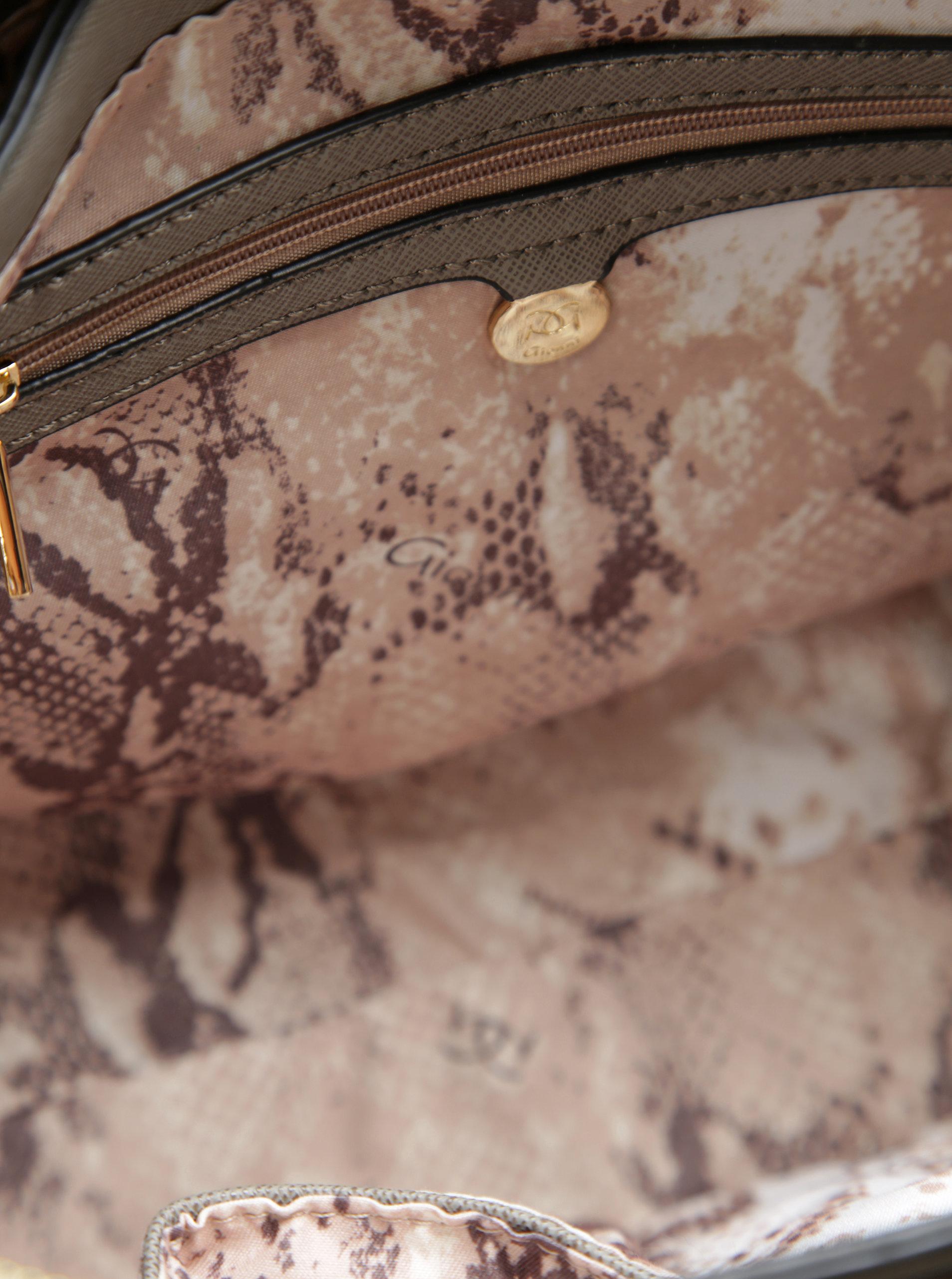 385d63677f Modro-sivá kabelka so sponou v zlatej farbe Gionni Lyra ...