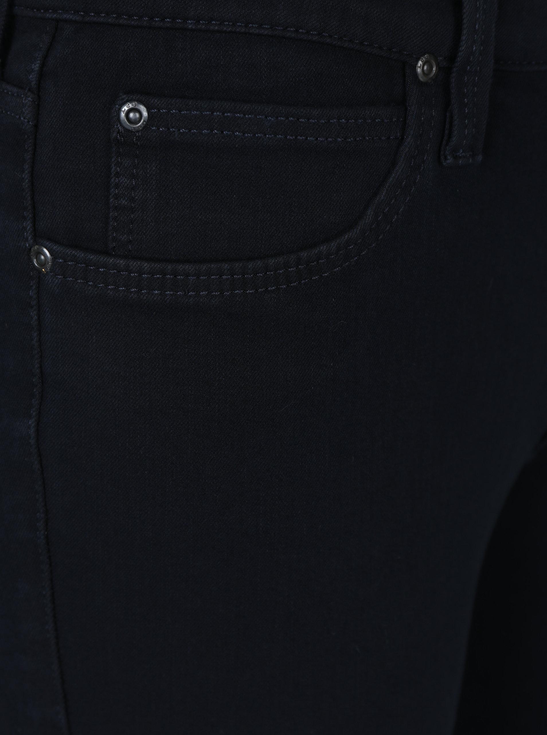 aaee0194ac7 Tmavě modré dámské zkrácené skinny fit džíny Lee Scarlett ...