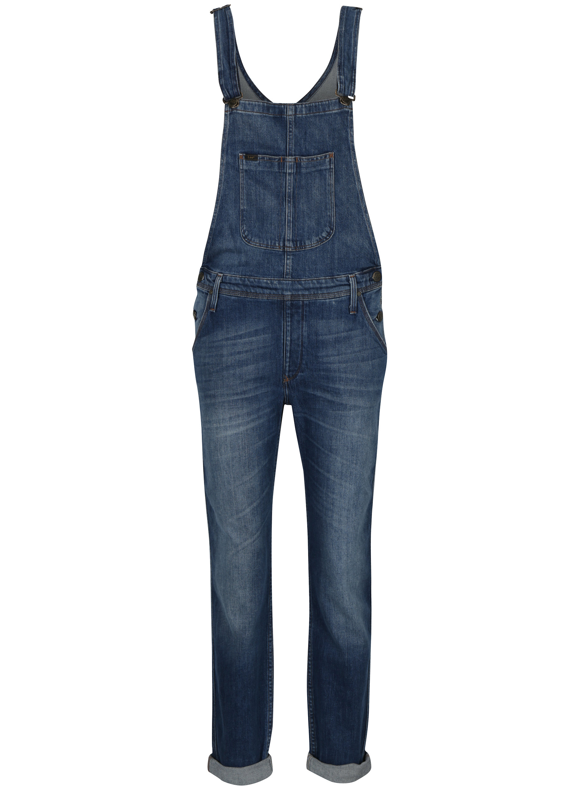 4938017fc278 Modré dámske rifľové nohavice s trakmi Lee Chelsea ...